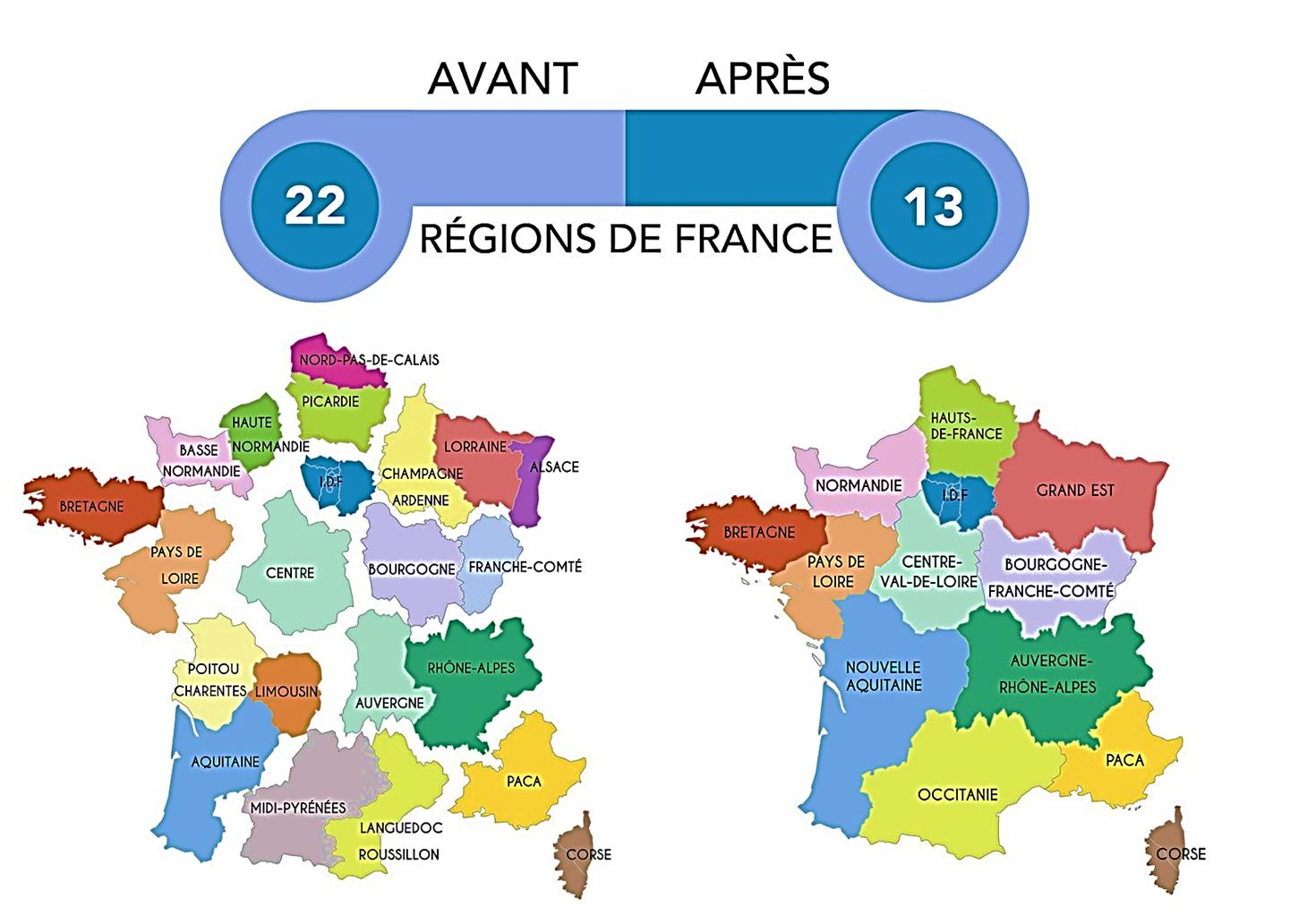 Bien Sûr! concernant Les 22 Régions De France Métropolitaine