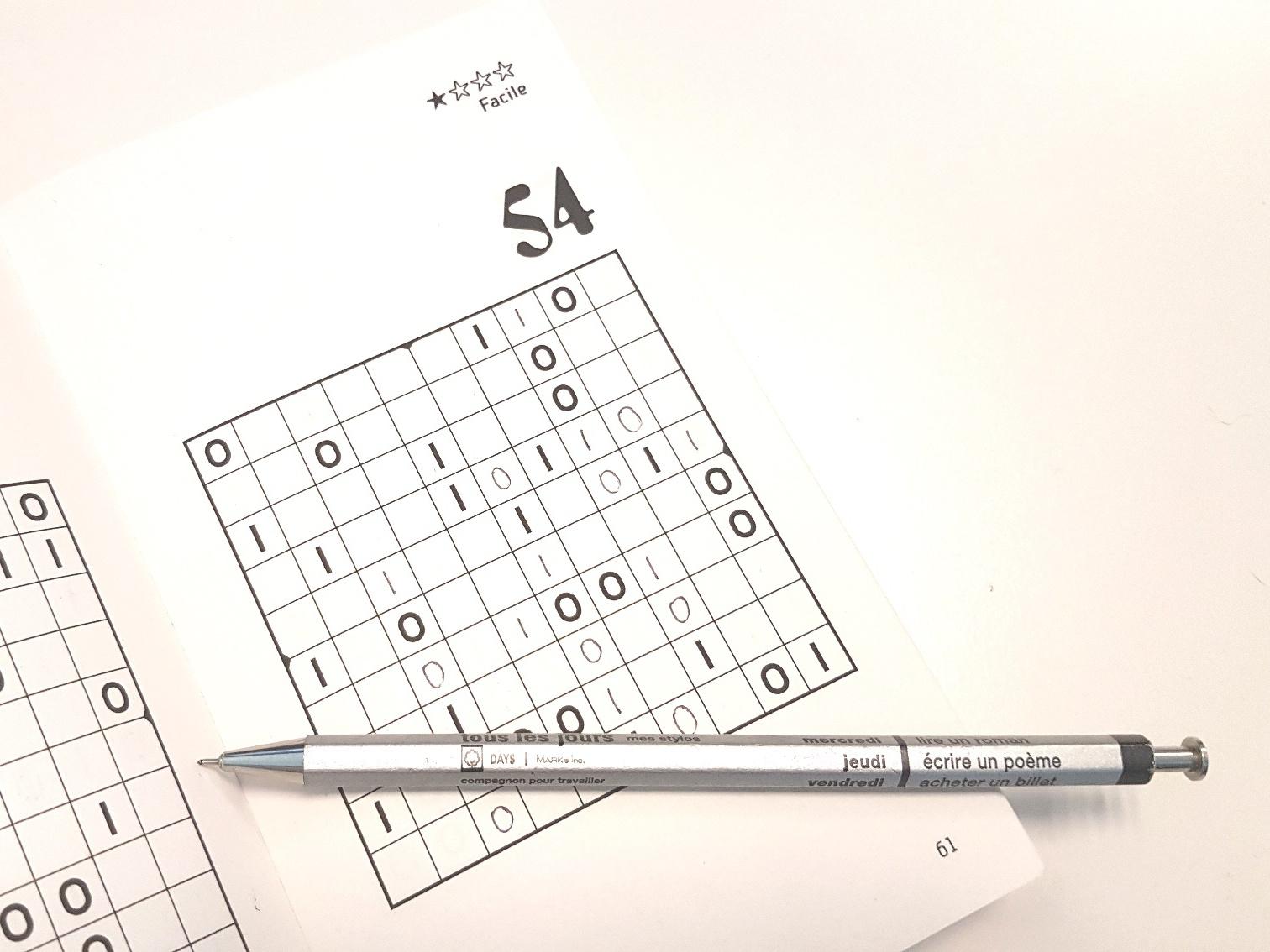 Binairo, Le Jeu Pour Les Accros Des Chiffres - Biba Magazine tout Sudoku Gratuit En Ligne Facile