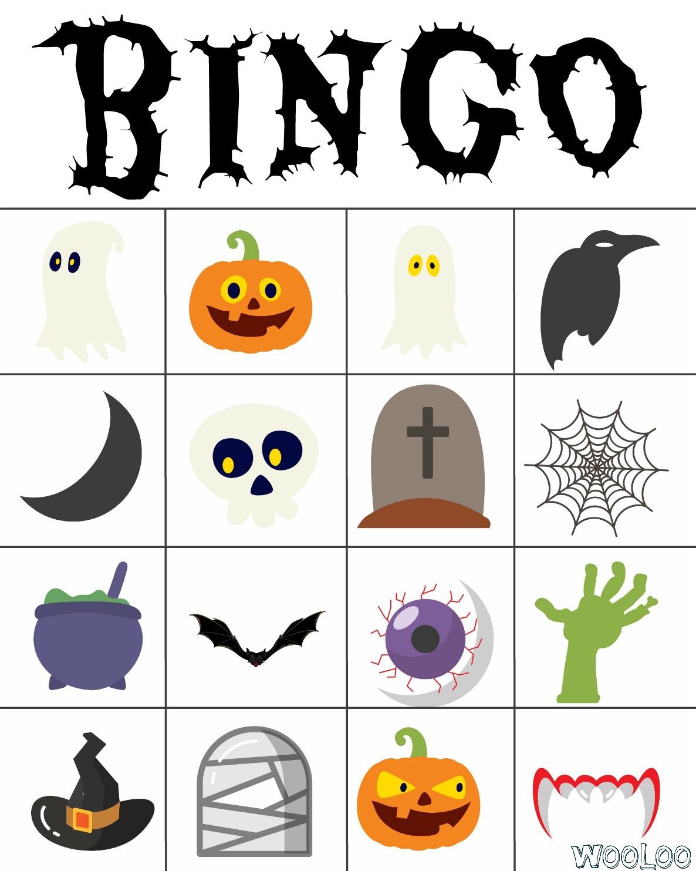 Bingo D'halloween - Wooloo avec Jeux D Halloween Gratuit