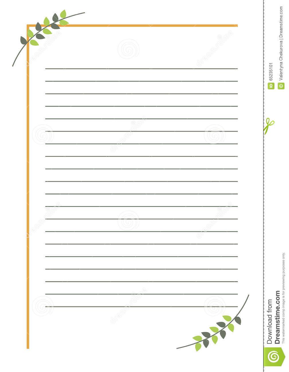 Blanc De Vecteur Pour La Lettre Ou La Carte De Voeux Forme serapportantà Feuille Ligne Lettre