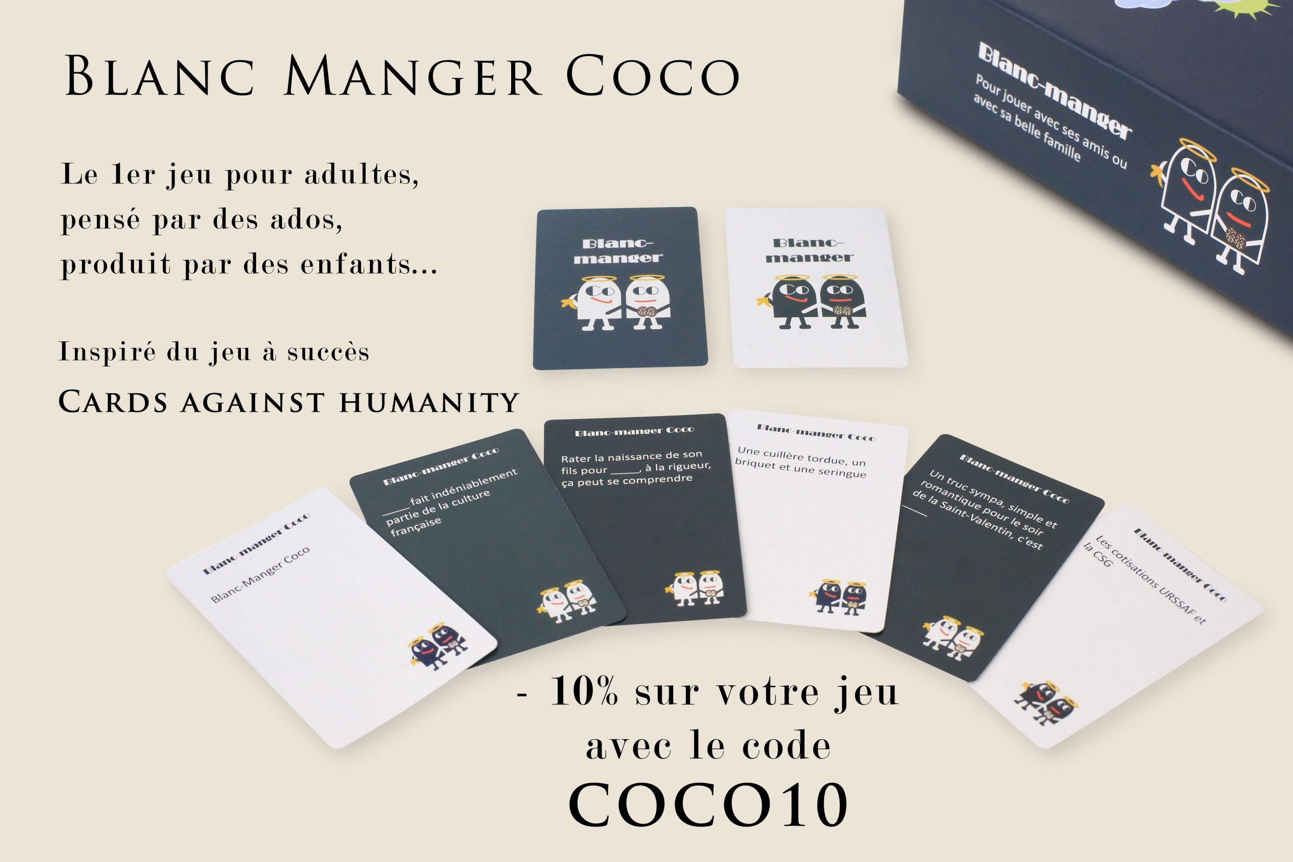 """Blanc Manger Coco - Pokeo.fr - Le Jeu De Cartes """"blanc avec Jeux À Manger"""