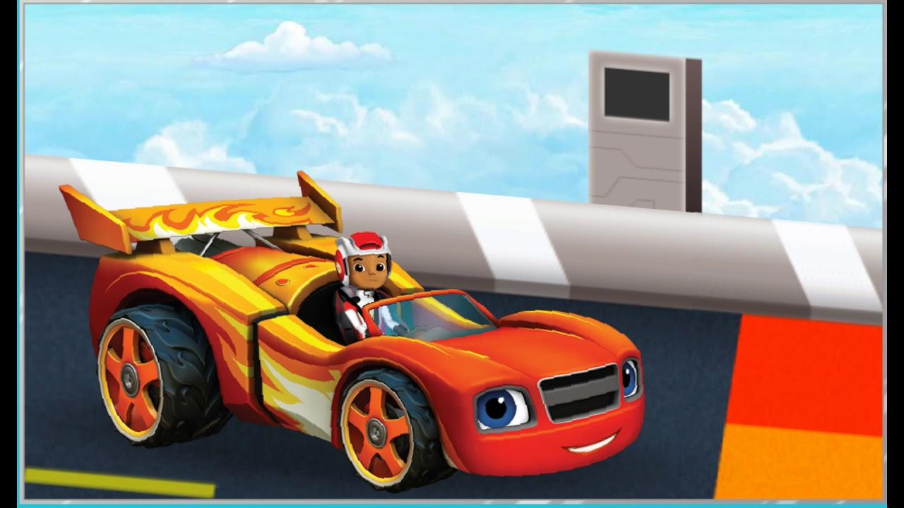 Blaze Et Les Monster Machines : La Course De Voiture - Jeux Nickelodeon  Junior Pour Enfants encequiconcerne Course De Voiture Pour Enfant