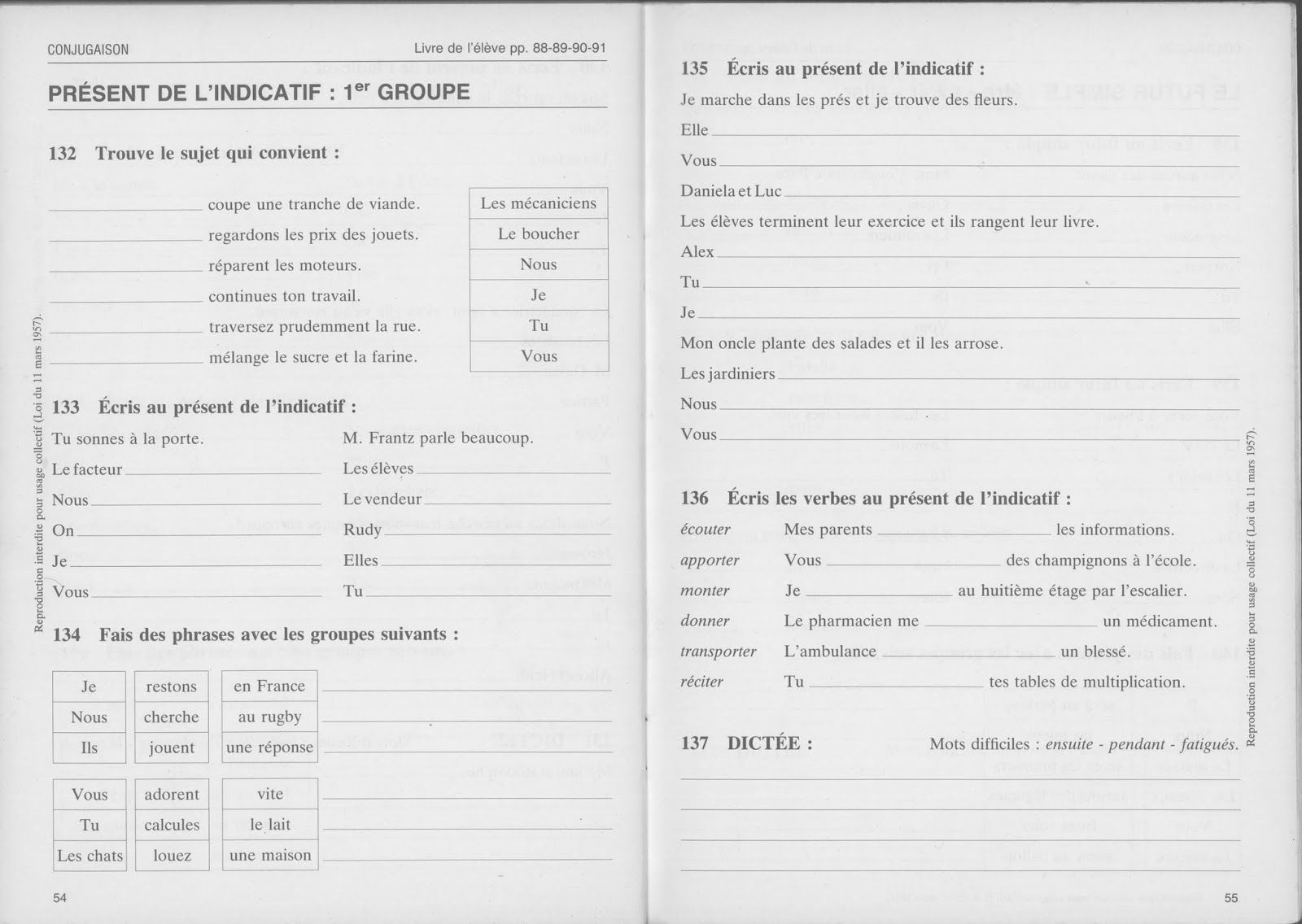 Bled, Exercices D'orthographe Ce1 (1990) | Orthographe Ce1 destiné Exercice Gratuit Ce1