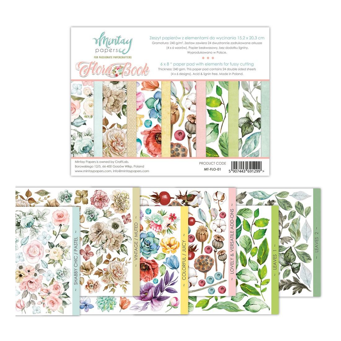 Bloc Florabook Fleurs Et Feuillages À Découper Mintay By Karola intérieur Fleurs À Découper