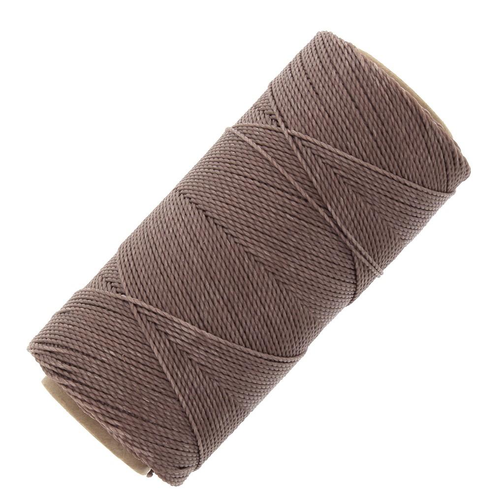 Bobine De Fil Ciré Linhasita Pour Micro Macramé 1 Mm Taupe (366) X180M dedans Code Couleur Taupe