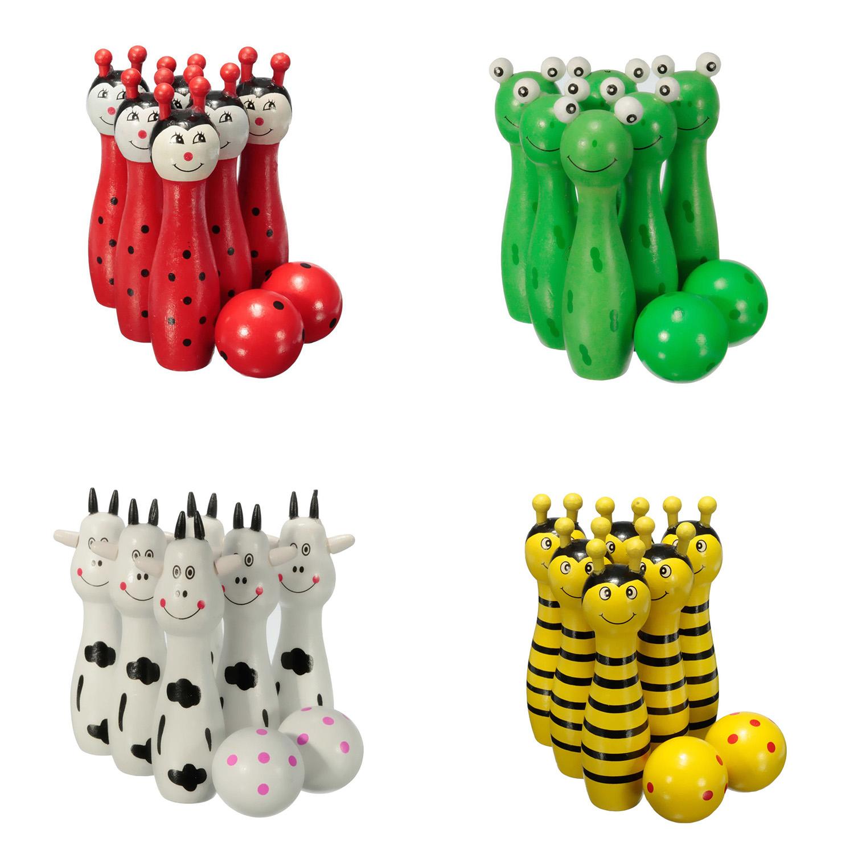 Bois Bowling Ball Quille Jeu De Forme Animale Pour Enfants Enfants Jouet  L5E Otg | Ebay tout Bowling Pour Enfant