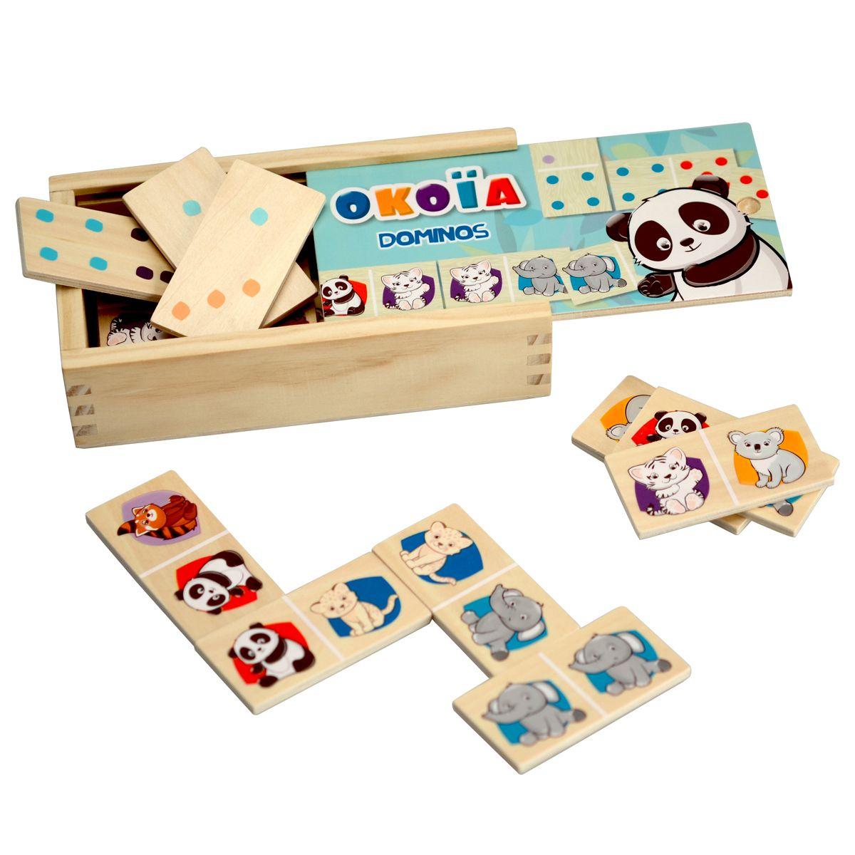 Boîte 28 Dominos En Bois - Jeux De Société Et Puzzles - La encequiconcerne Jeux Domino Gratuit En Ligne
