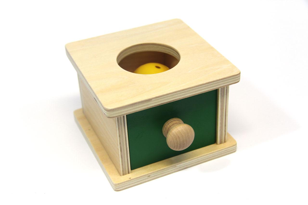 Boîte À Forme À Tiroir Et Sa Balle intérieur Boite À Forme Montessori