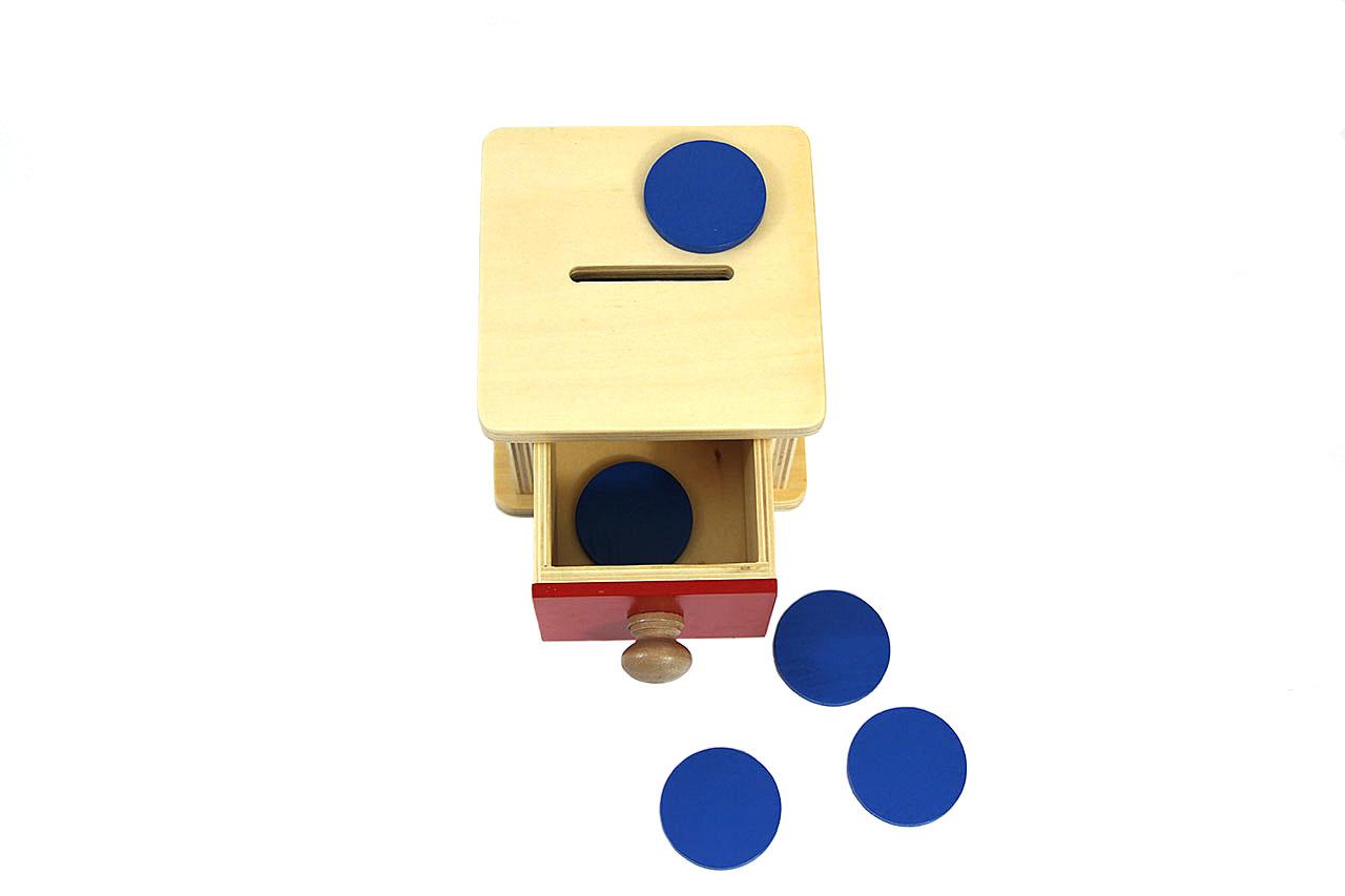 Boîte À Forme À Tiroir : Les Jetons concernant Boite À Forme Montessori