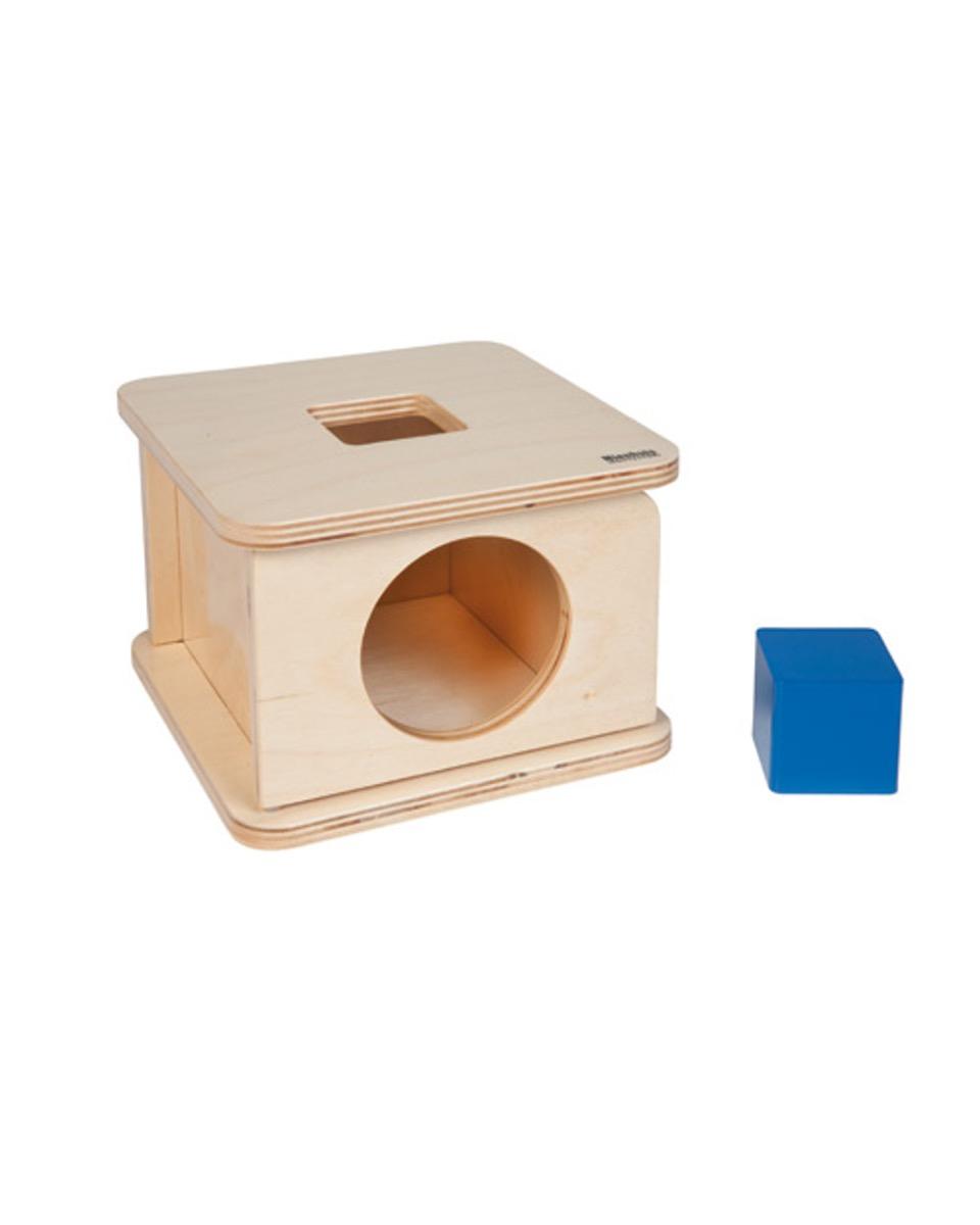 Boite À Forme Cube - Montessori encequiconcerne Boite À Forme Montessori