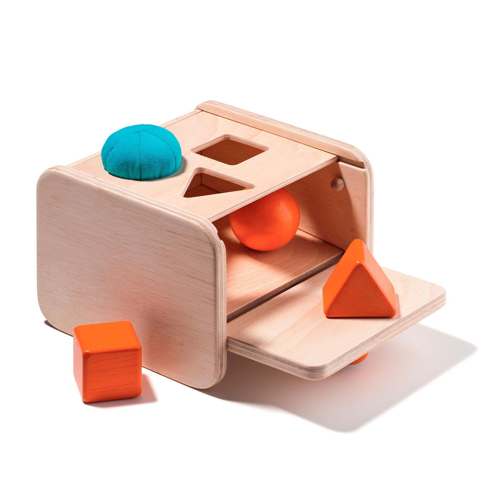 Boîte De Notion De Permanence De L'objet avec Boite À Forme Montessori