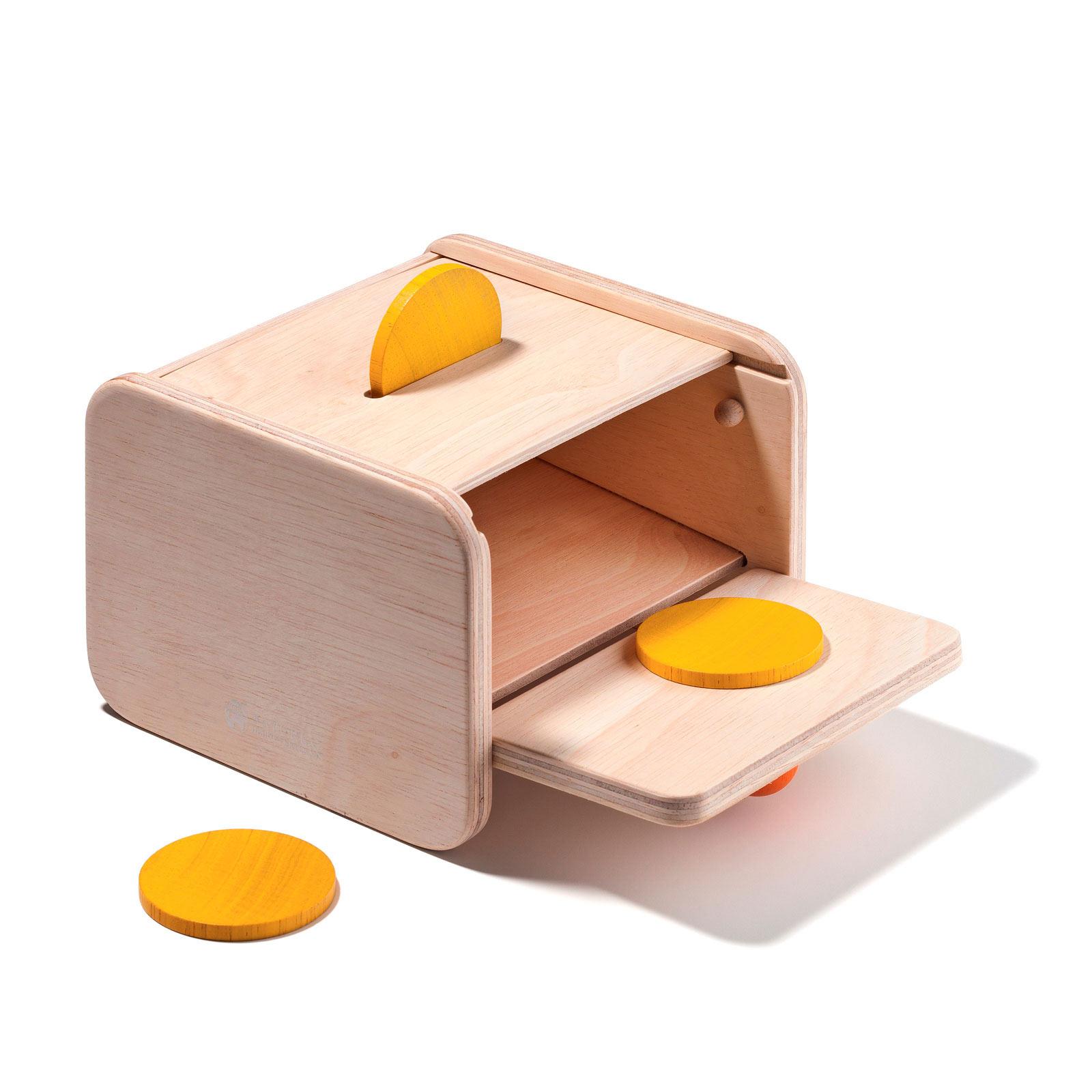 Boîte De Notion De Permanence De L'objet encequiconcerne Boite À Forme Montessori