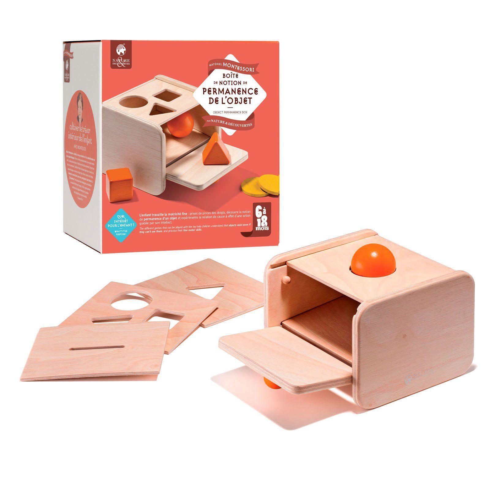 Boîte De Notion De Permanence De L'objet Nature concernant Boite À Forme Montessori