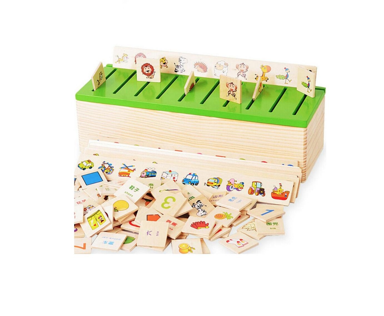 Boite De Tri Montessori En Bois tout Boite À Forme Montessori