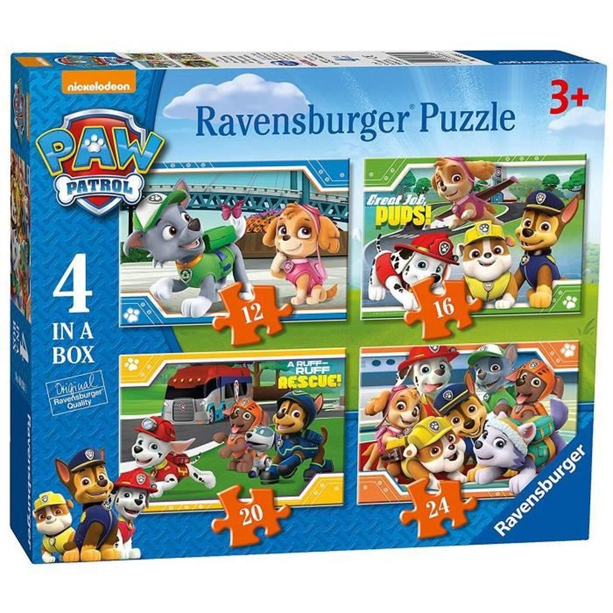 Boîtes De 4 Puzzles Pat Patrouille Paw Patrol 3 + 3 Ans Et Plus encequiconcerne Puzzle Fille 3 Ans