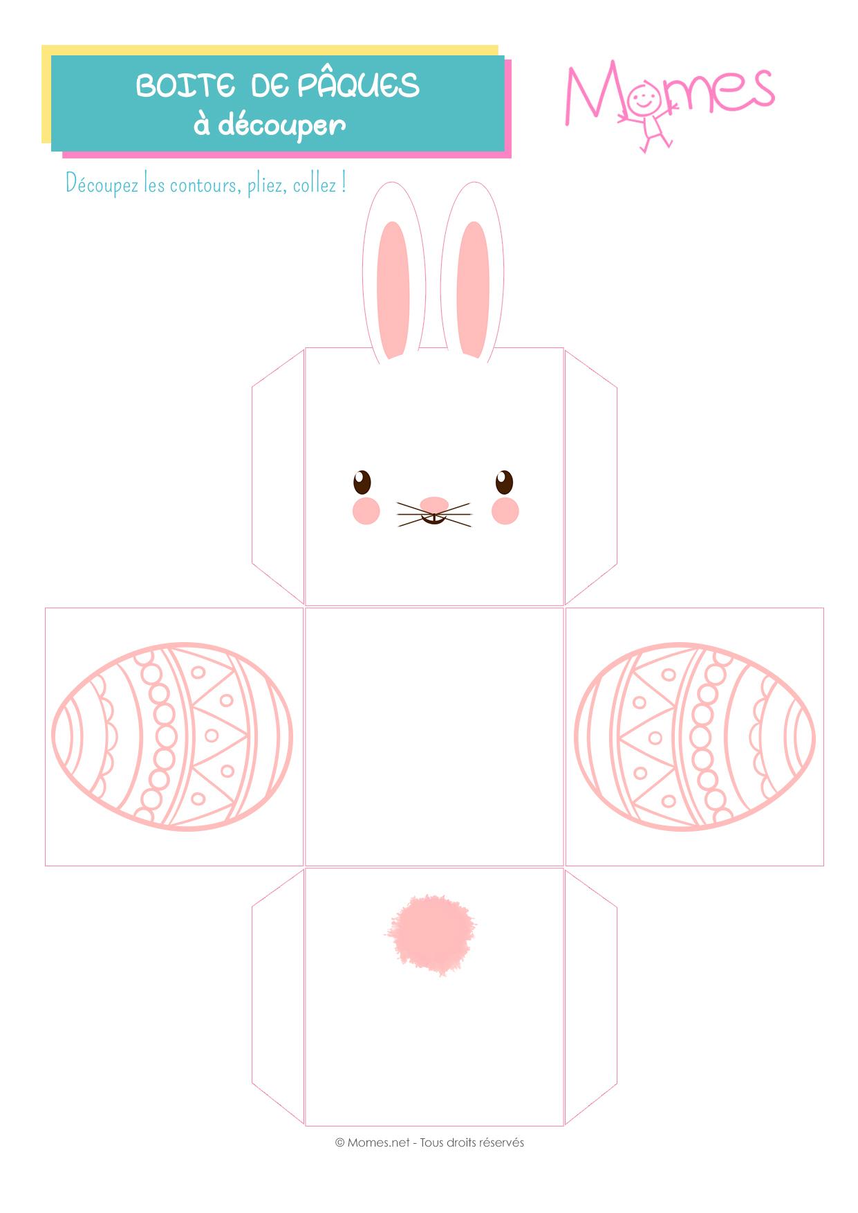 Boîtes De Pâques À Imprimer - Momes tout Bricolage À Imprimer Gratuit