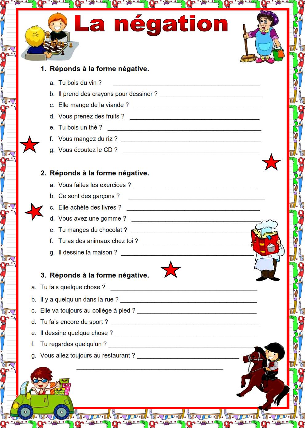 Bonjour Bashaer1: Grammaire à Exercice Francais Facile