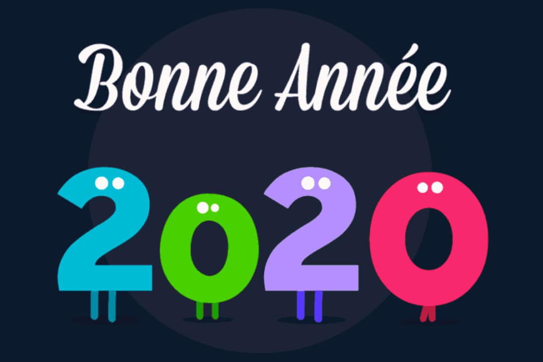 Bonne Année 2020 : Cartes, Textes, Images, Gif Tout Pour pour Carte De Bonne Année Gratuite A Imprimer