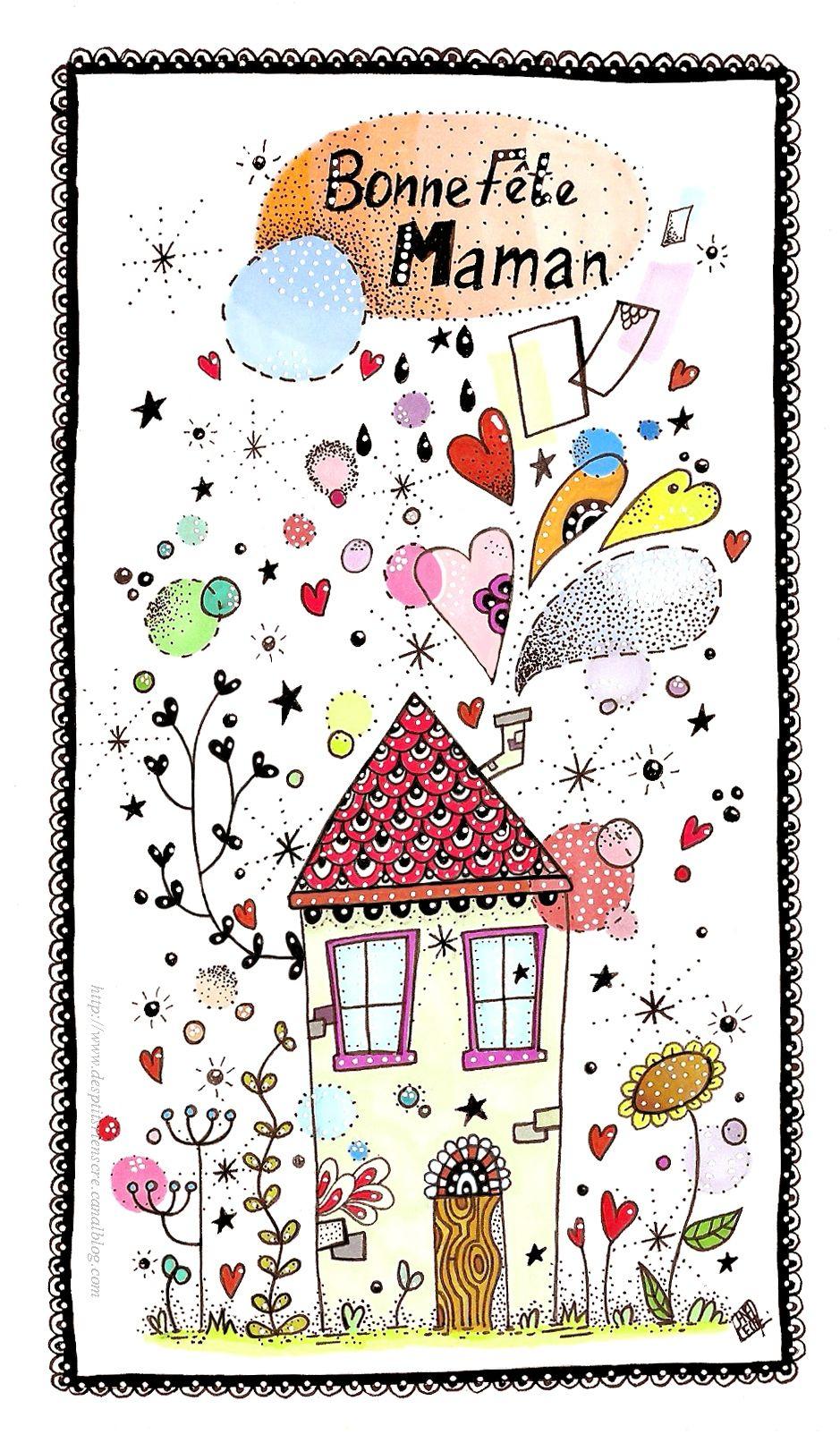 Bonne Fête Maman 2015 (À Imprimer) - Des P'tits Riens serapportantà Carte Bonne Fete Maman A Imprimer