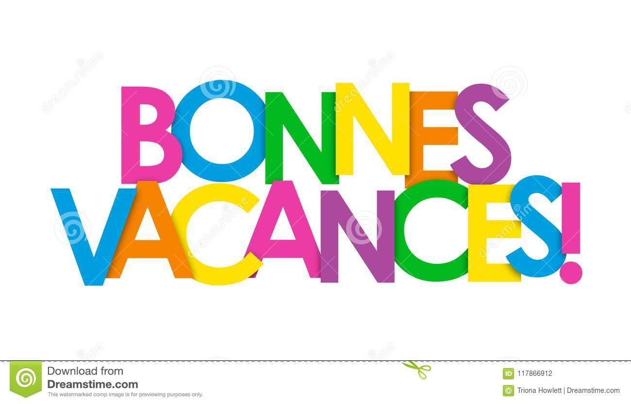 Bonnes Vacances ! Bannière De Recouvrement De Lettres De avec Images Bonnes Vacances Gratuites