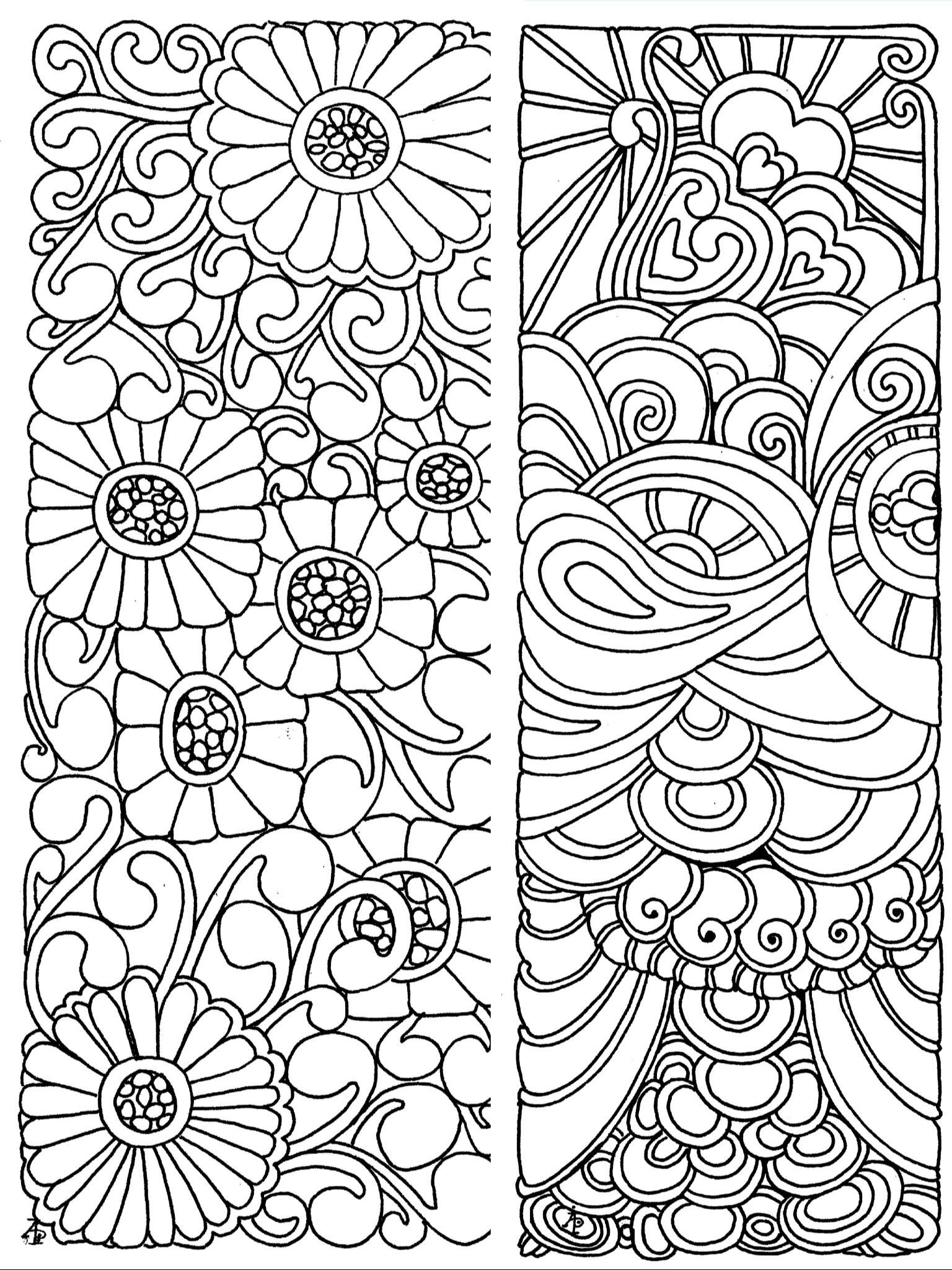 Bookmarks Coloring Page   Signets, Jeux Dessin, Marque Page dedans Marque Page À Colorier
