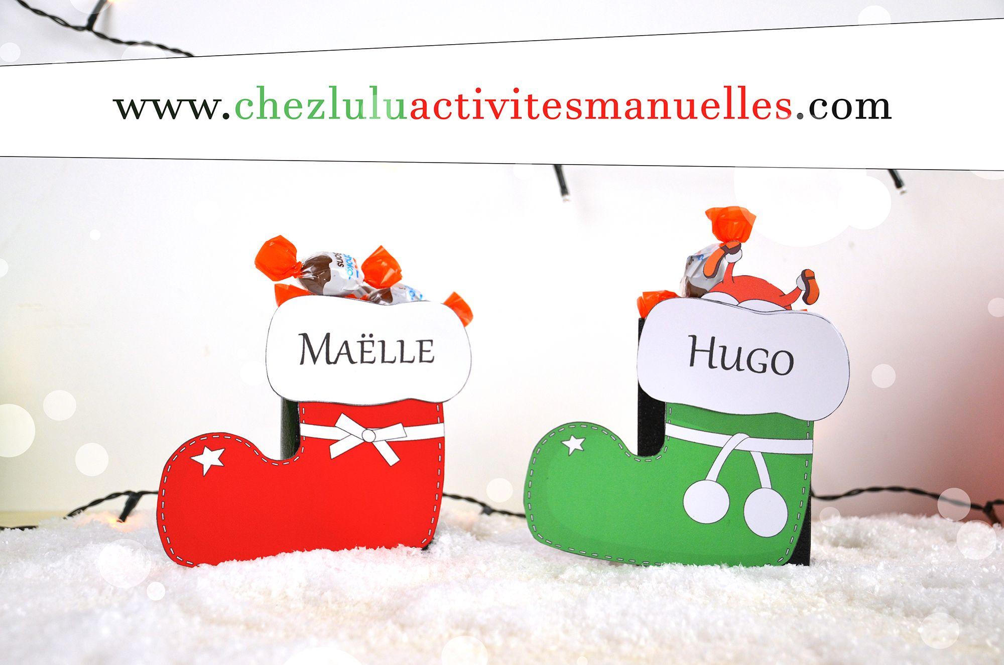 Bottes De Noël - Boîtes Pour Chocolats - Activité Manuelle serapportantà Activités Manuelles Enfants Noel