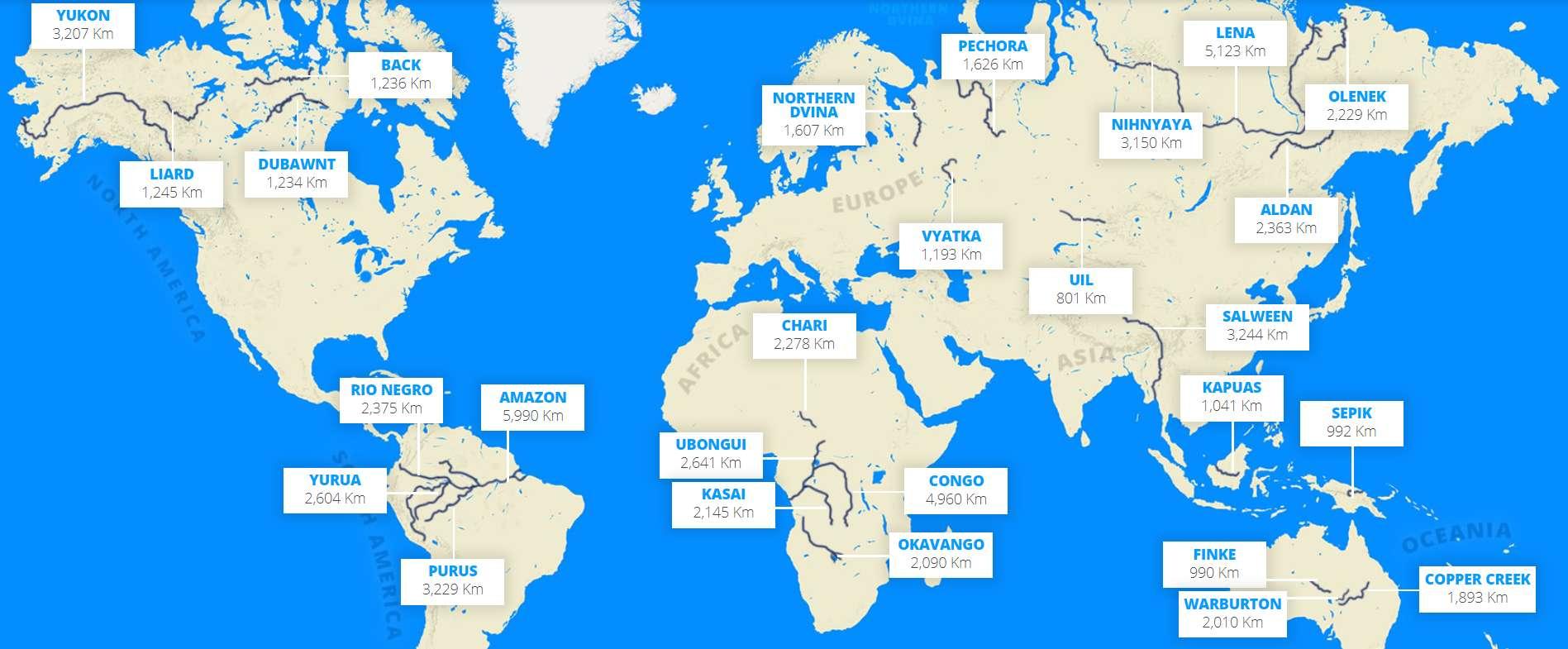 Brève | Deux Tiers Des Plus Longs Fleuves Du Monde Ne encequiconcerne Carte Des Fleuves