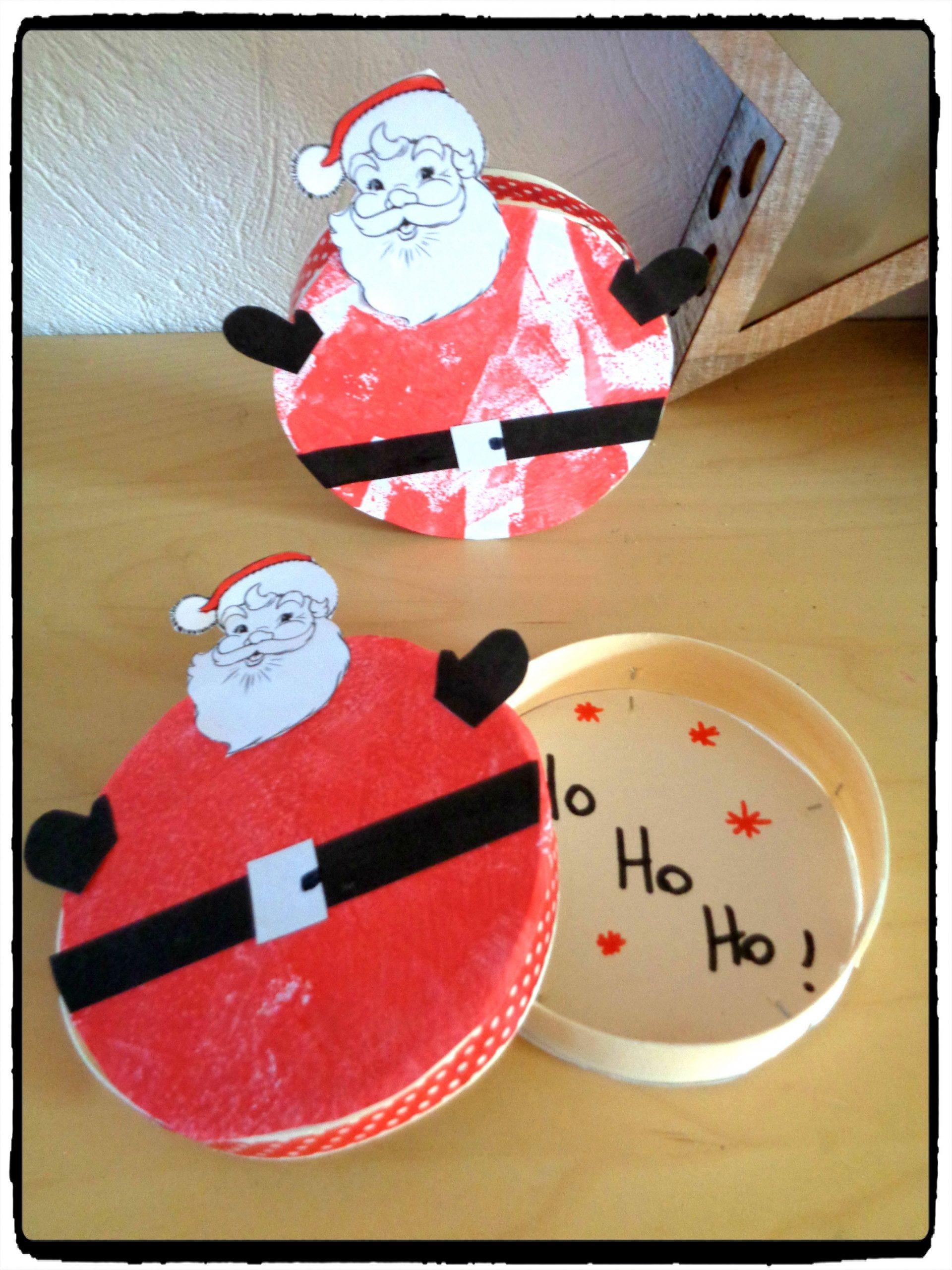 Bricolage De Noël : La Boîte Du Père Noël - | Activité avec Activités Manuelles Enfants Noel