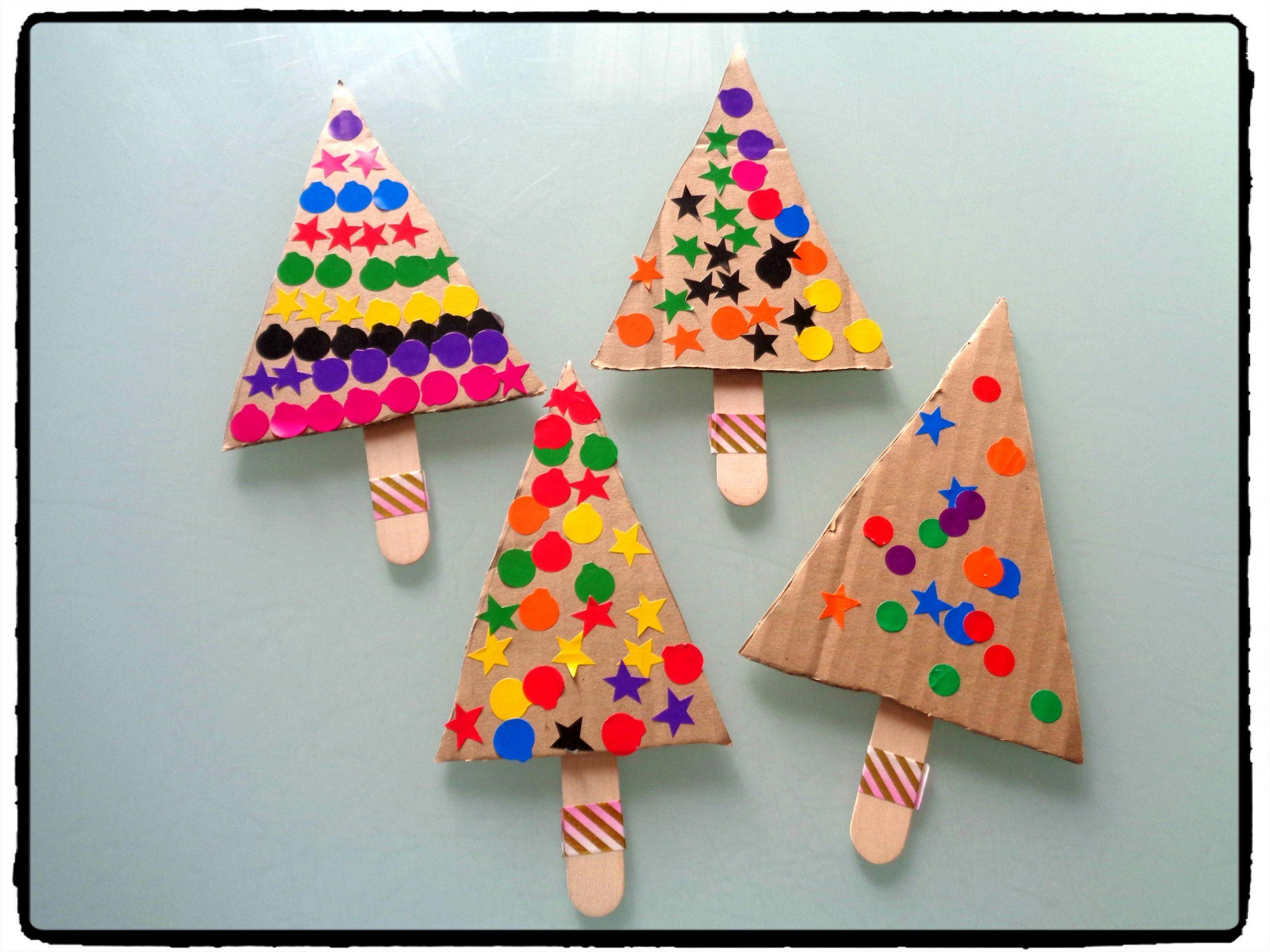 Bricolage De Noël Pour Enfants : Des Sapins Pour Les Petites intérieur Activité Manuel De Noel