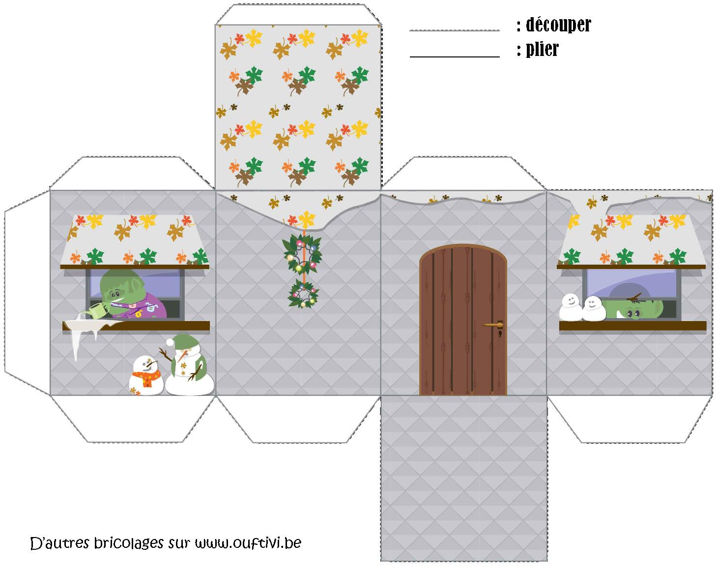 Bricolage - Maison De Noël 4 - Ouftivi tout Bricolage À Imprimer Gratuit