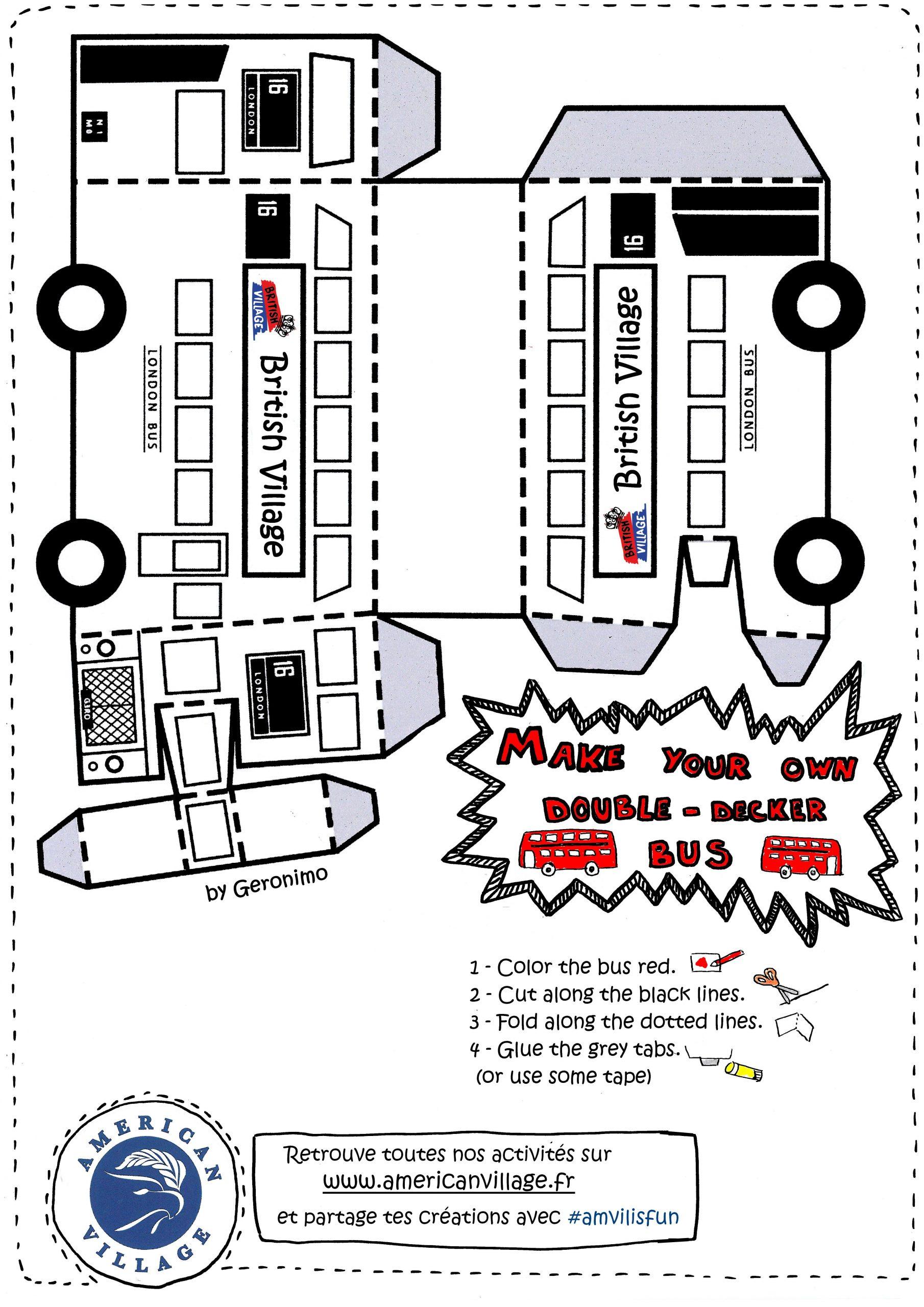 Bus Anglais À Imprimer Et Assembler concernant Découper En Anglais