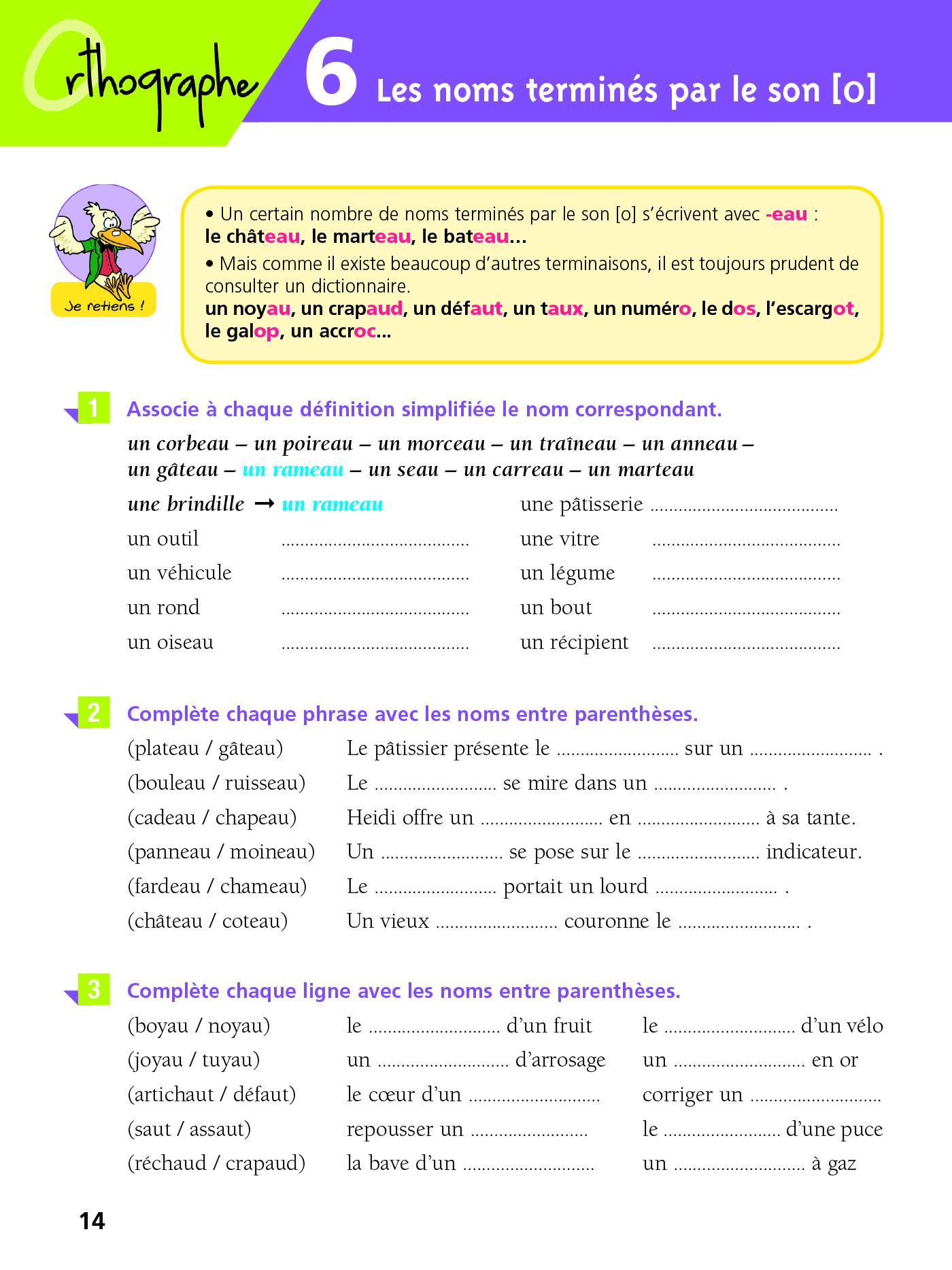 Cahier Bled - Exercices D'orthographe Ce2 intérieur Exercice De Ce2 En Ligne