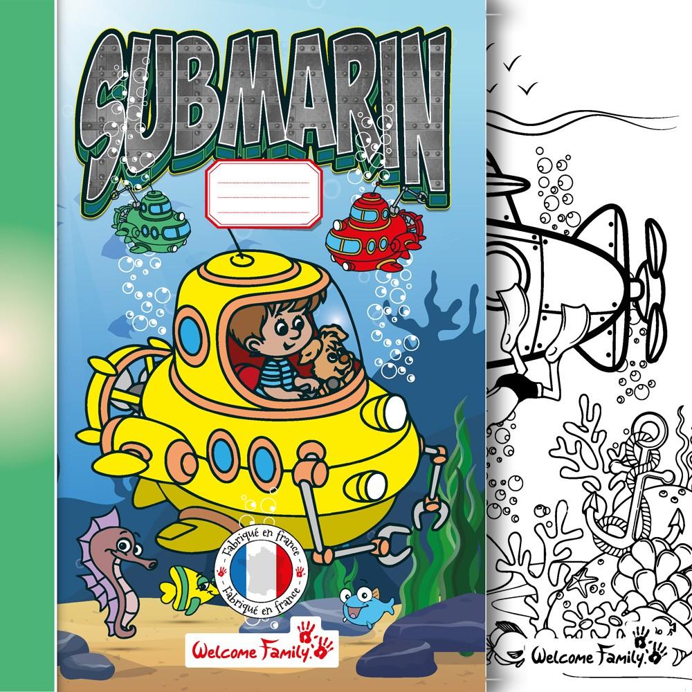Cahier Coloriage Marin, Cadeau Surprise Accueil Enfant Et Menu Enfant concernant Cahier De Coloriage Enfant