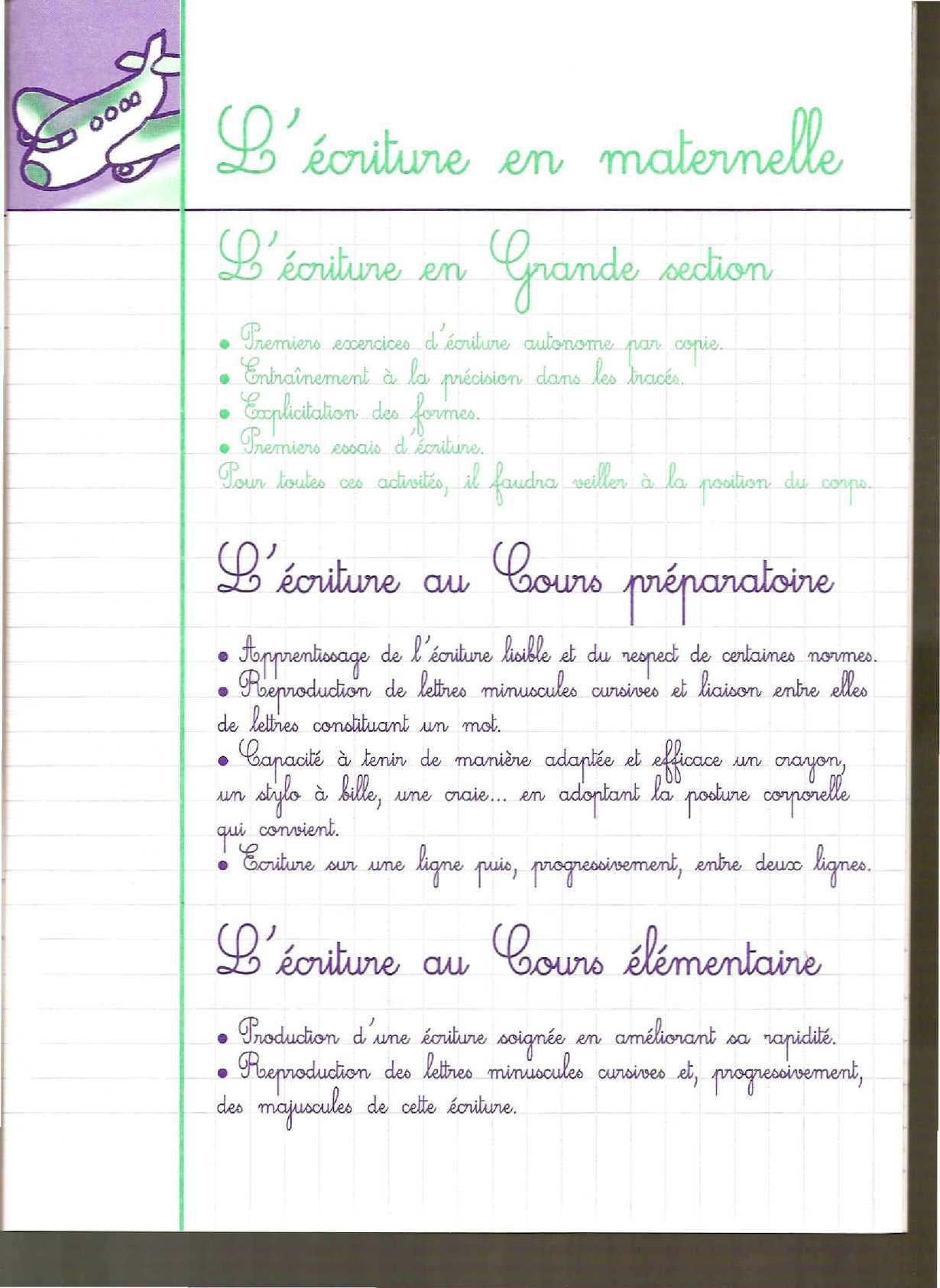 Cahier D Ecriture Ms-Gs - Calameo Downloader avec Ligne Écriture Gs