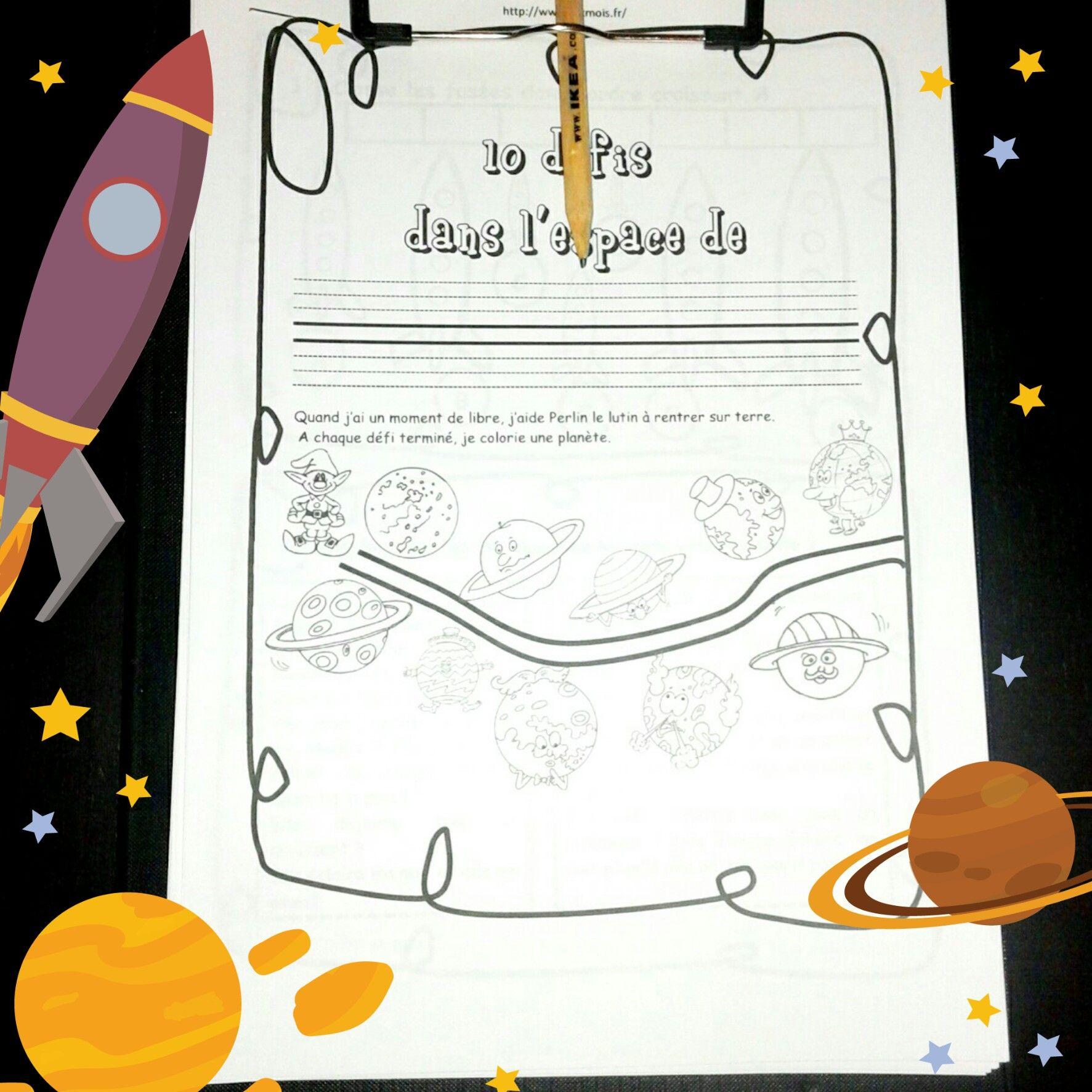 Cahier D'activité Gratuit Sur L'espace | Cahier D Activités pour Activité Manuelle Pour Cp