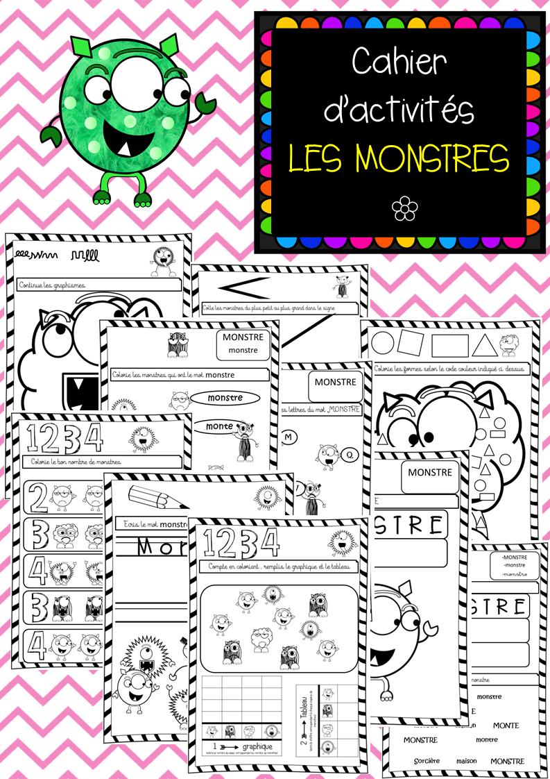 Cahier D'activités Des Monstres à Fiche Activité Maternelle Petite Section