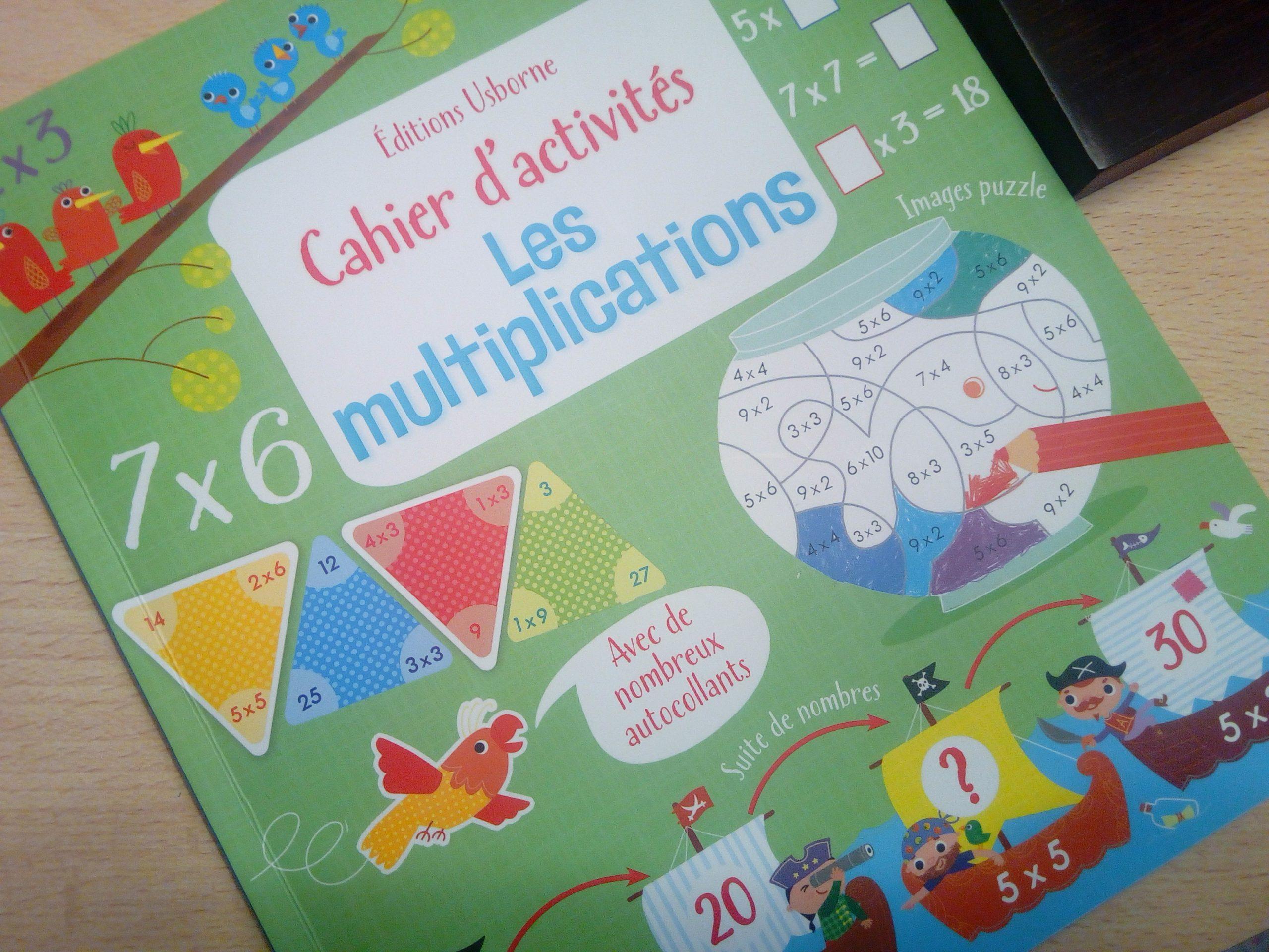 Cahier D'activités Les Multiplications : Apprendre Les dedans Apprendre La Table De Multiplication En Jouant