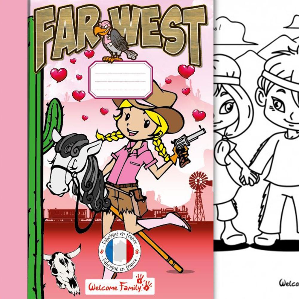 Cahier De Coloriage Western Girl tout Cahier De Coloriage Enfant