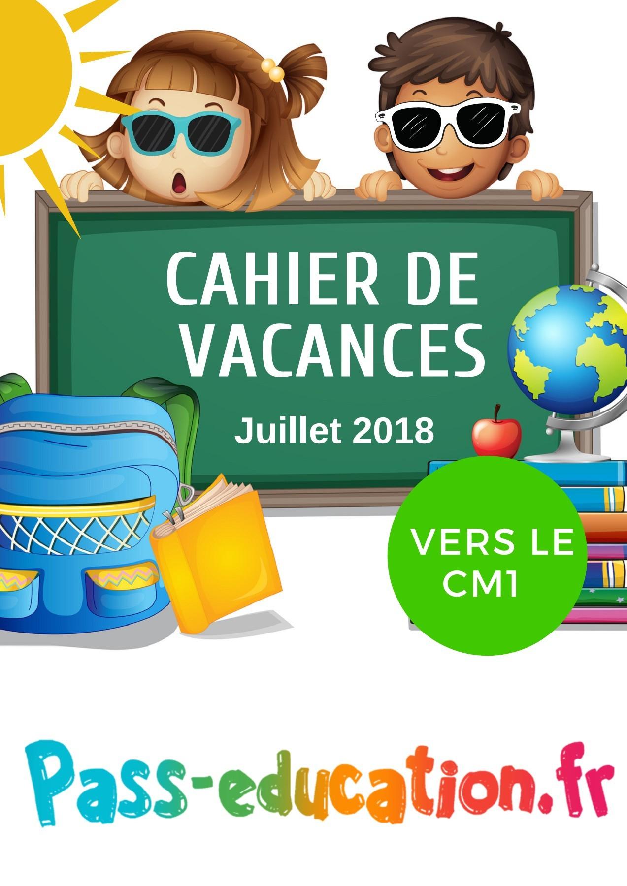 Cahier De Vacances Gratuit À Imprimer - Ce2 Vers Le Cm1 tout Cahier De Vacances Adultes Gratuit