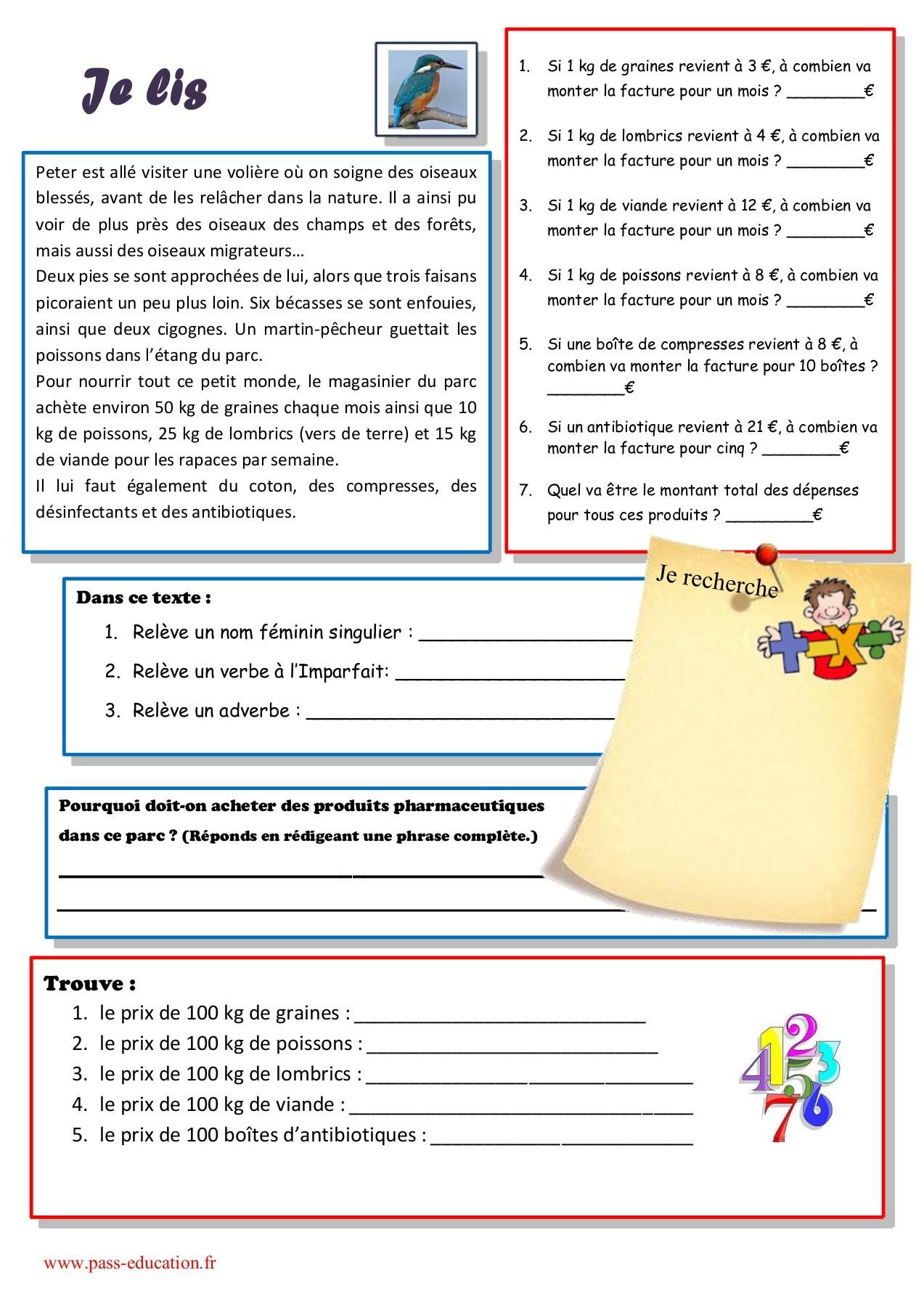Cahier De Vacances Gratuit À Imprimer - Cm2 Vers La 6Ème destiné Cahier De Vacances En Ligne