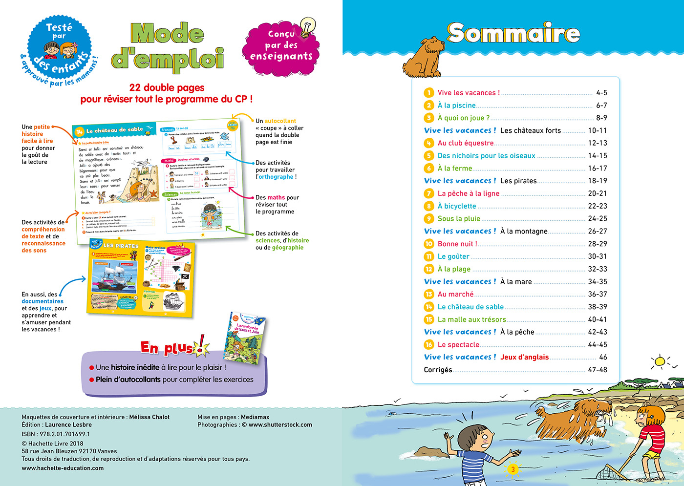 Cahier De Vacances Sami Et Julie Du Cp Au Ce1 avec Cahier D Exercice Cp