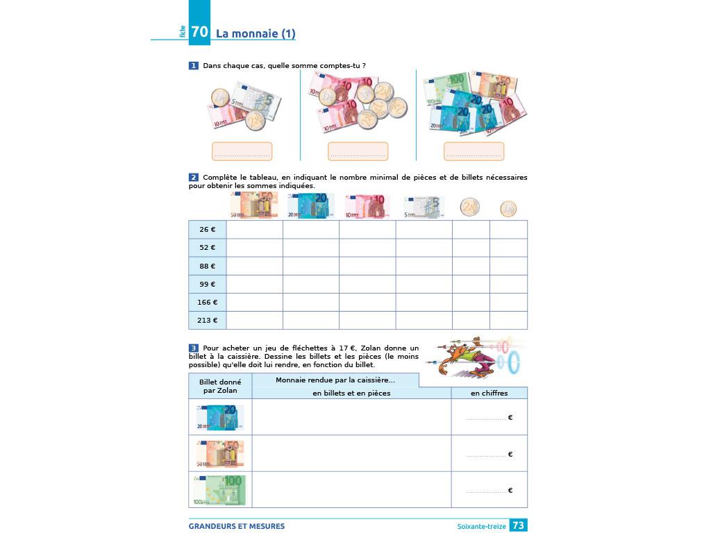 Cahier D'exercices Iparcours Maths Ce2 (Éd. 2018) avec Exercices Maths Ce2 À Imprimer