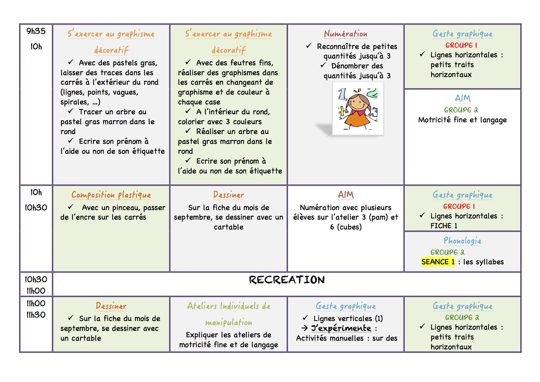 Cahier Journal - La Classe De Luccia ! dedans Graphisme Les Vagues Moyenne Section