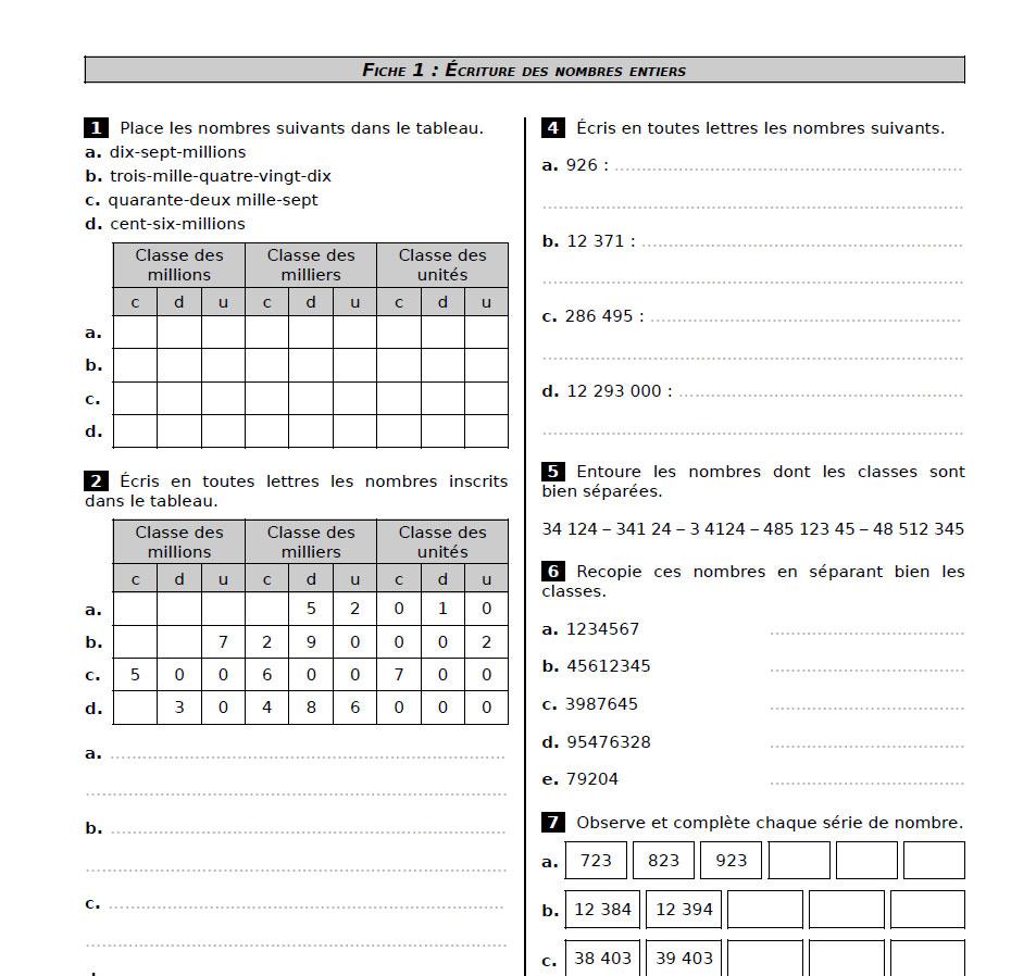 Cahier Sesamath Cm2 | pour Exercice Gratuit Cm2