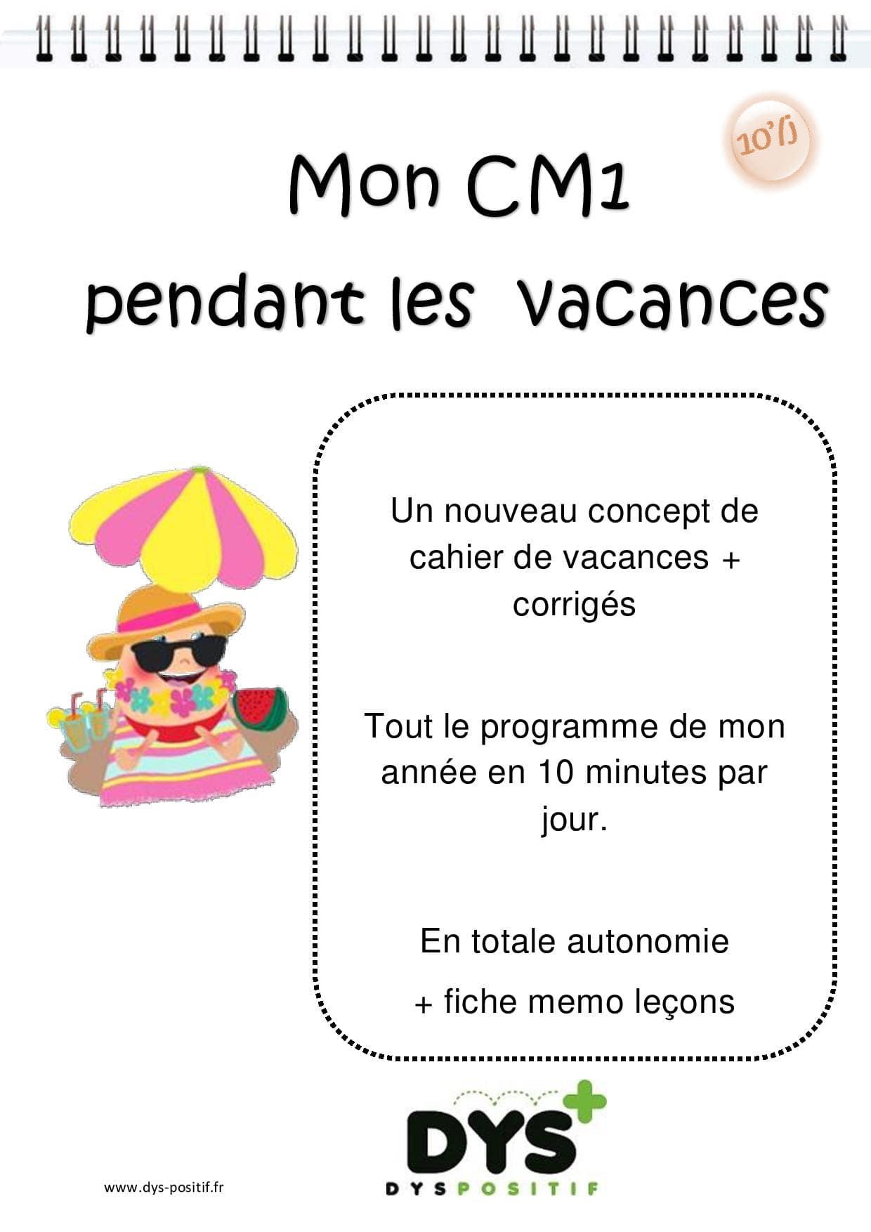 Cahiers De Vacances Dys À Imprimer: Cp, Ce1, Ce2, Cm1,cm2 avec Cahier De Vacances À Télécharger Gratuitement