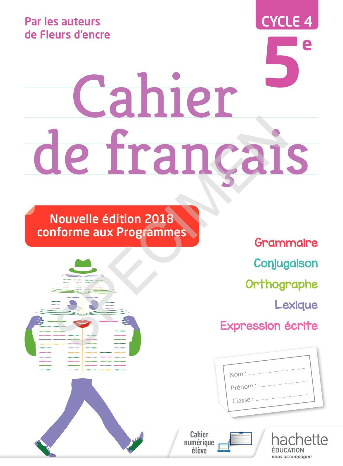 Calaméo - Cahier Français 5E avec Esquiver Mots Fleches