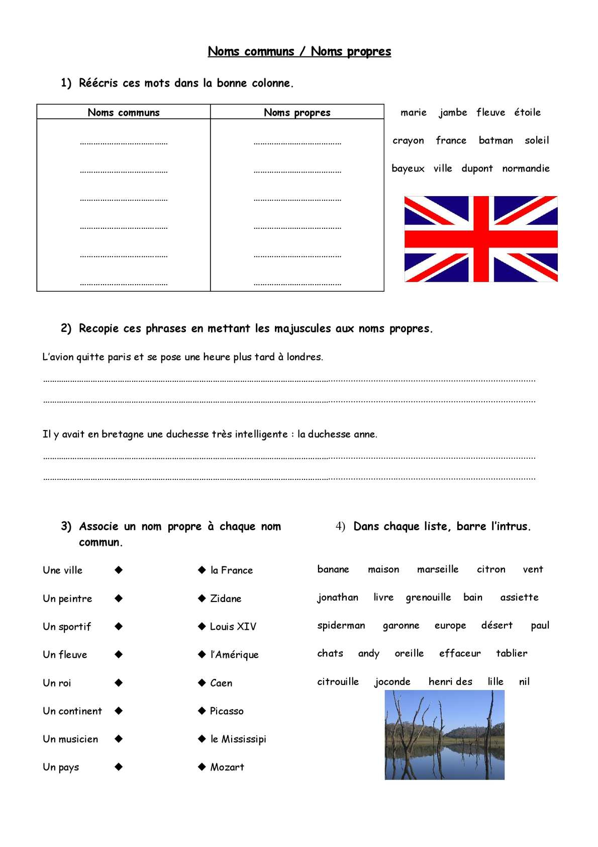 Calaméo - Cycle 2 / 3 : Orthographe : Noms Communs Noms intérieur Barre L Intrus