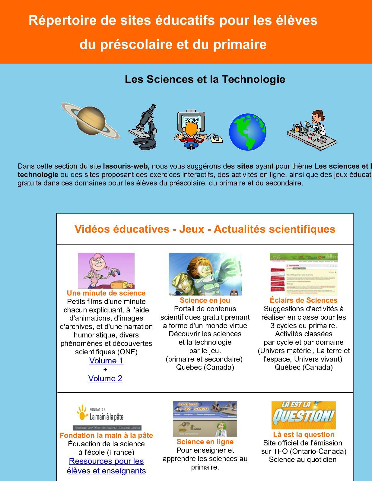 Calaméo - Répertoire De Sites Éducatifs Pour Les Élèves destiné Jeux Interactifs Primaire
