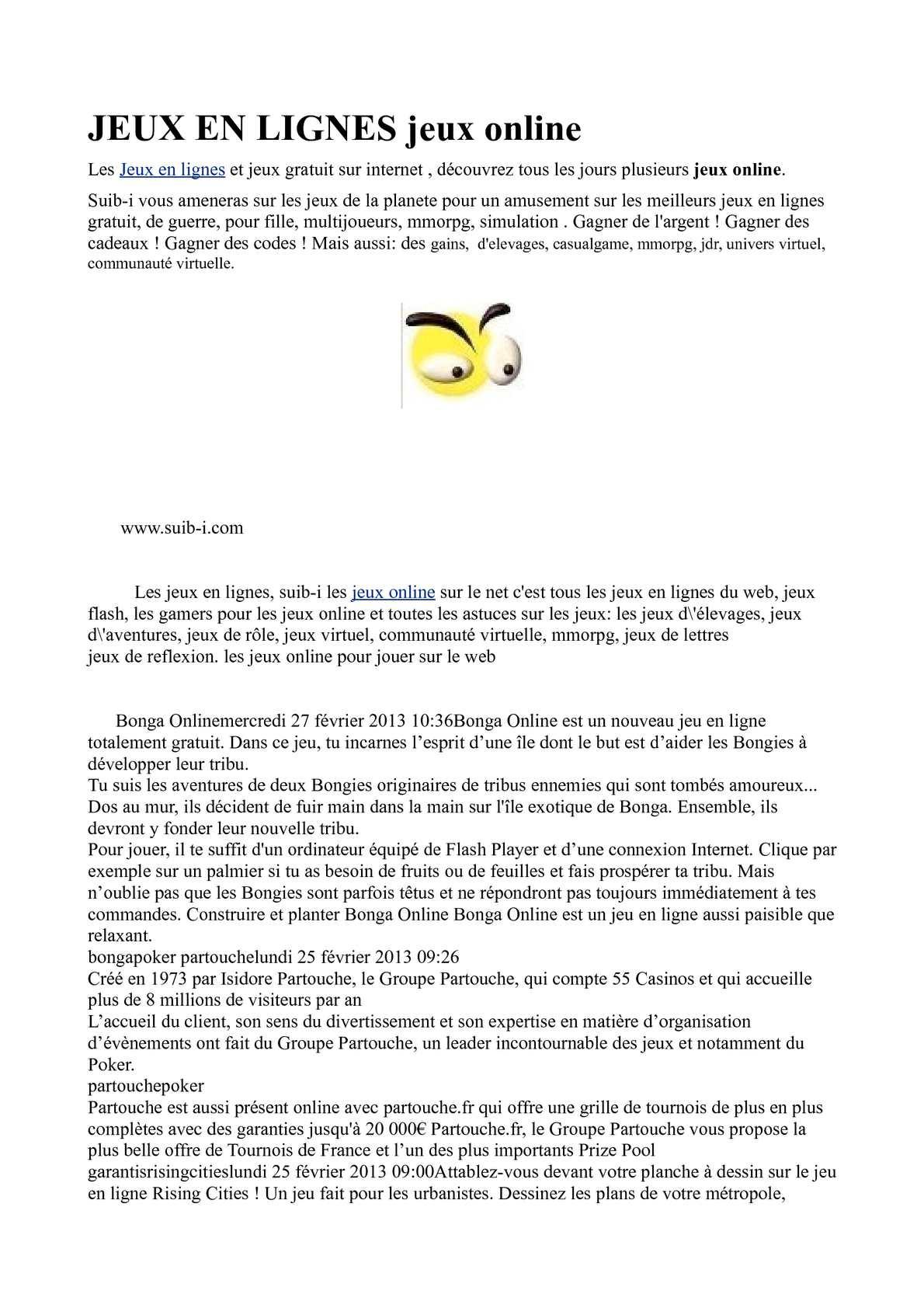 Calaméo - Suib-I Jeux intérieur Tous Les Jeux Gratuits Pour Filles