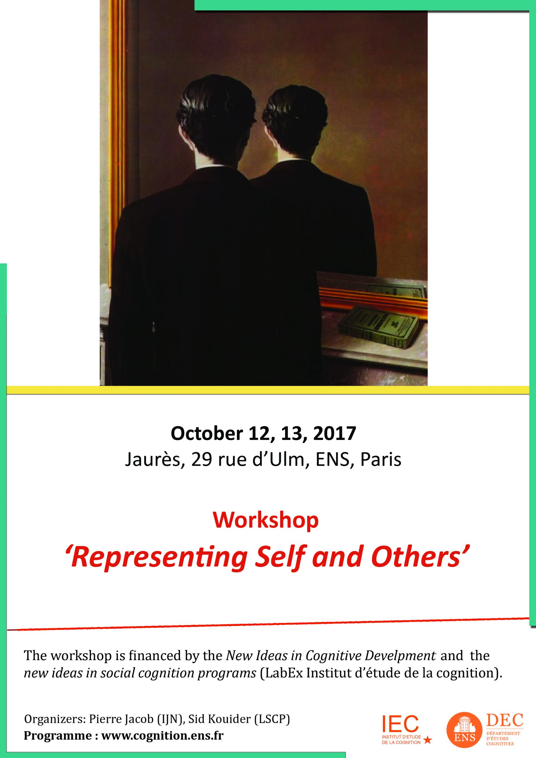 Calendar: Workshop - Representing Self And Others   Dec encequiconcerne Puzzle Departement